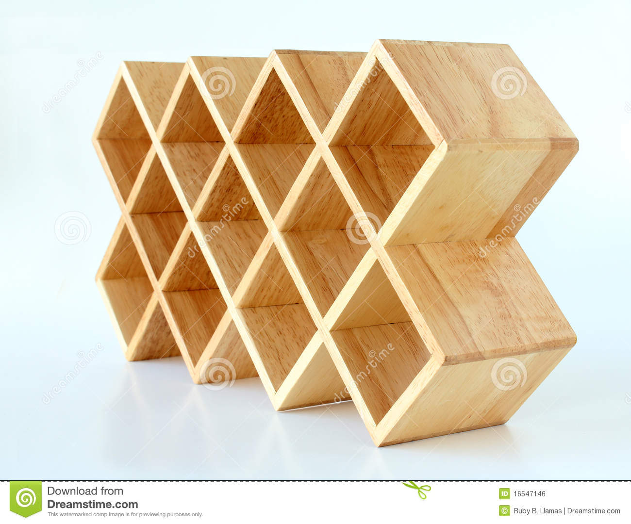 Wood Lattice Display Rack Royalty Free Stock Image Image