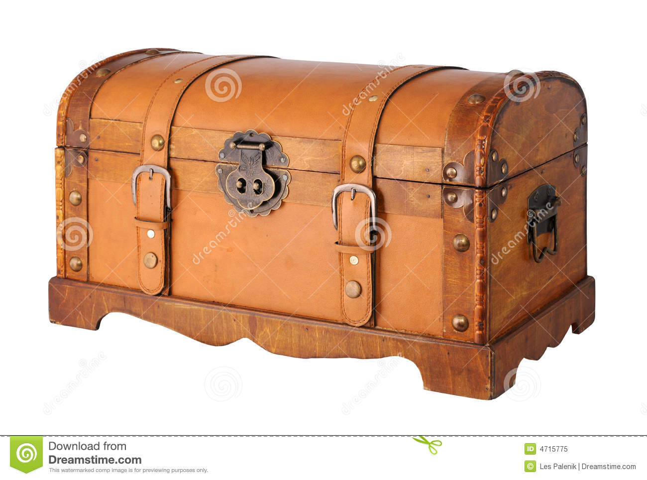 Wood And Leather Trunk Royalty Free Stock Photo - Image: 4715775