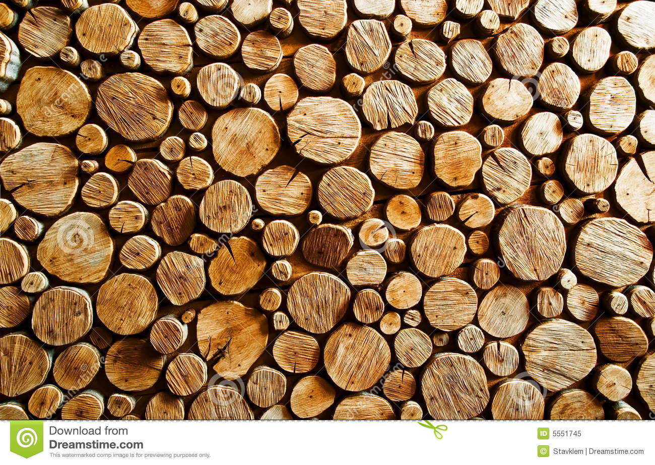 Wood log backround