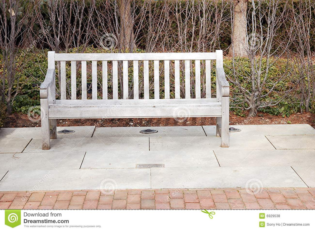 Wood Long Chair Stock Photo Image Of Green Seat Gray