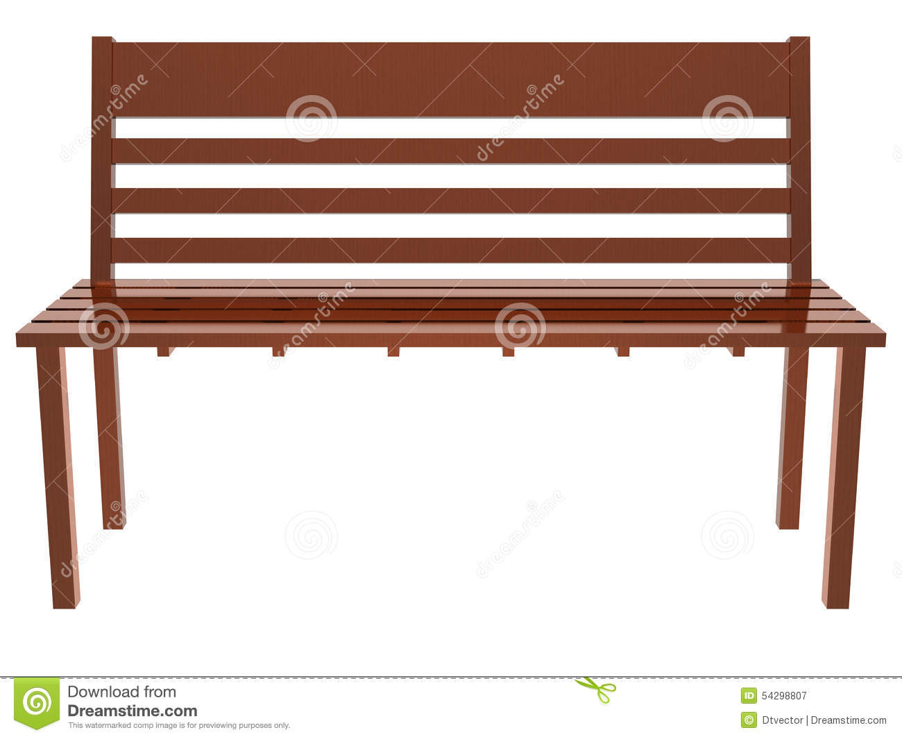 Wood Long Chair Stock Illustration - Image: 54298807