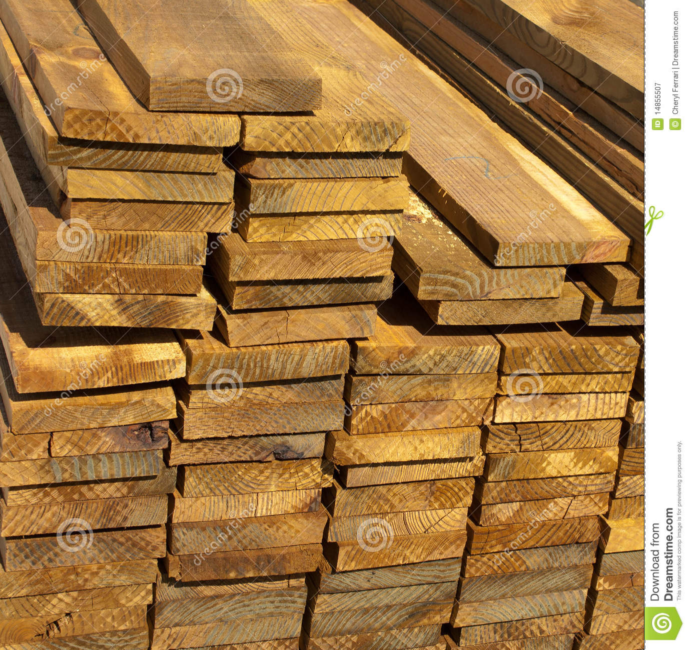 Wood Lumber Planks for Construction