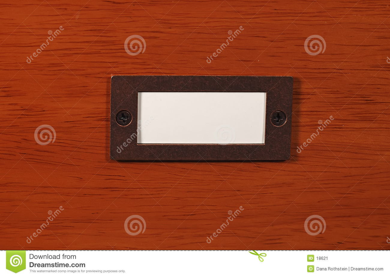 Wood With Name Plate