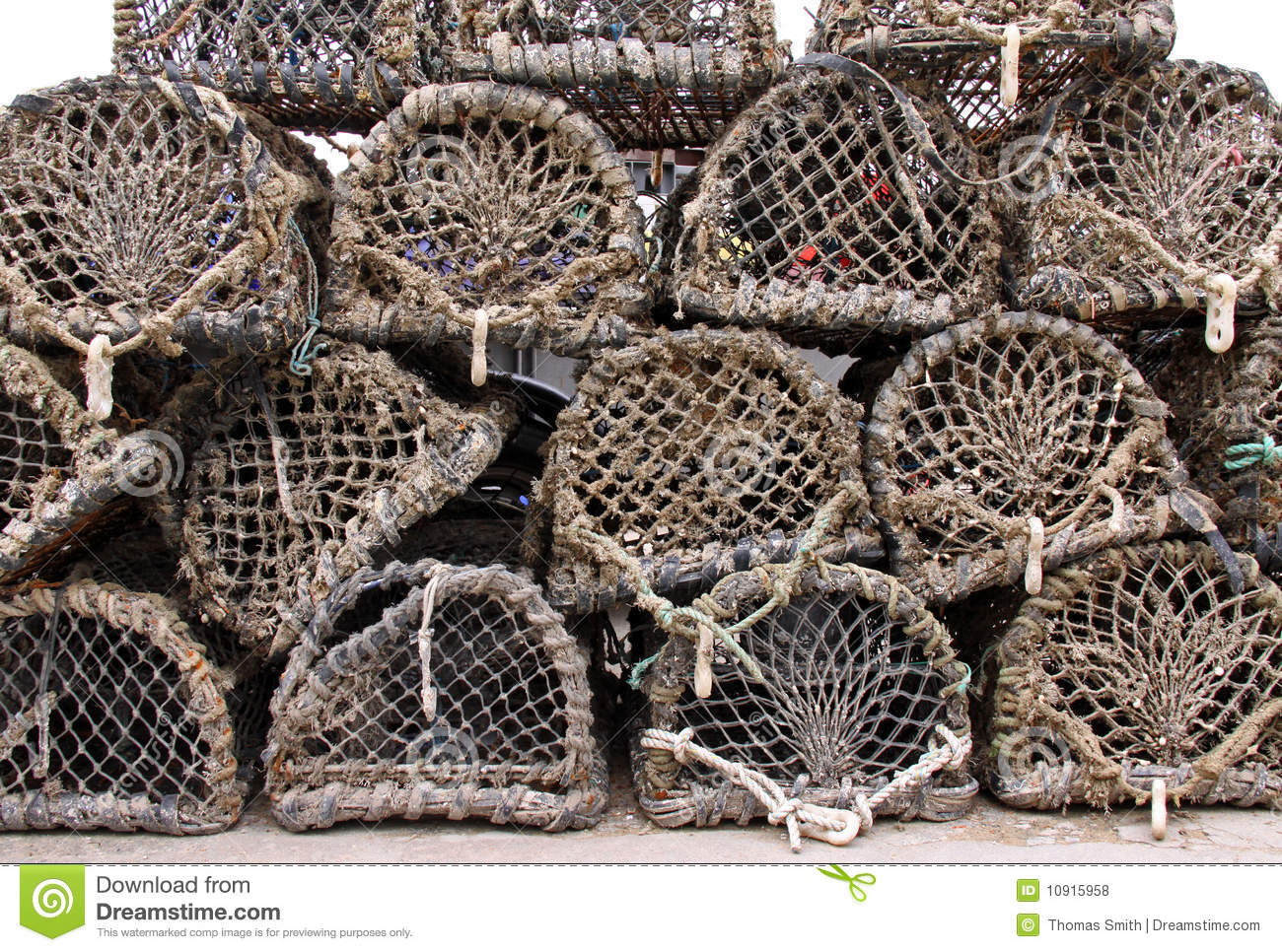 Wood And Net Crab And Lobster Pots / Traps Royalty Free Stock Photos ...