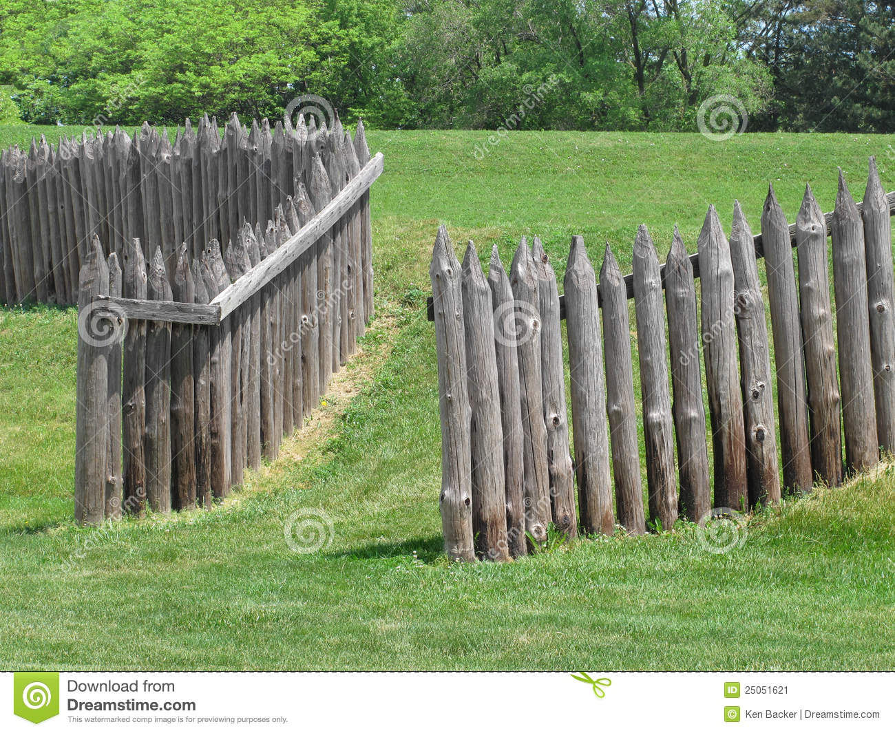 Wood palisade of old fort stock image image 25051621 for Old wooden forts