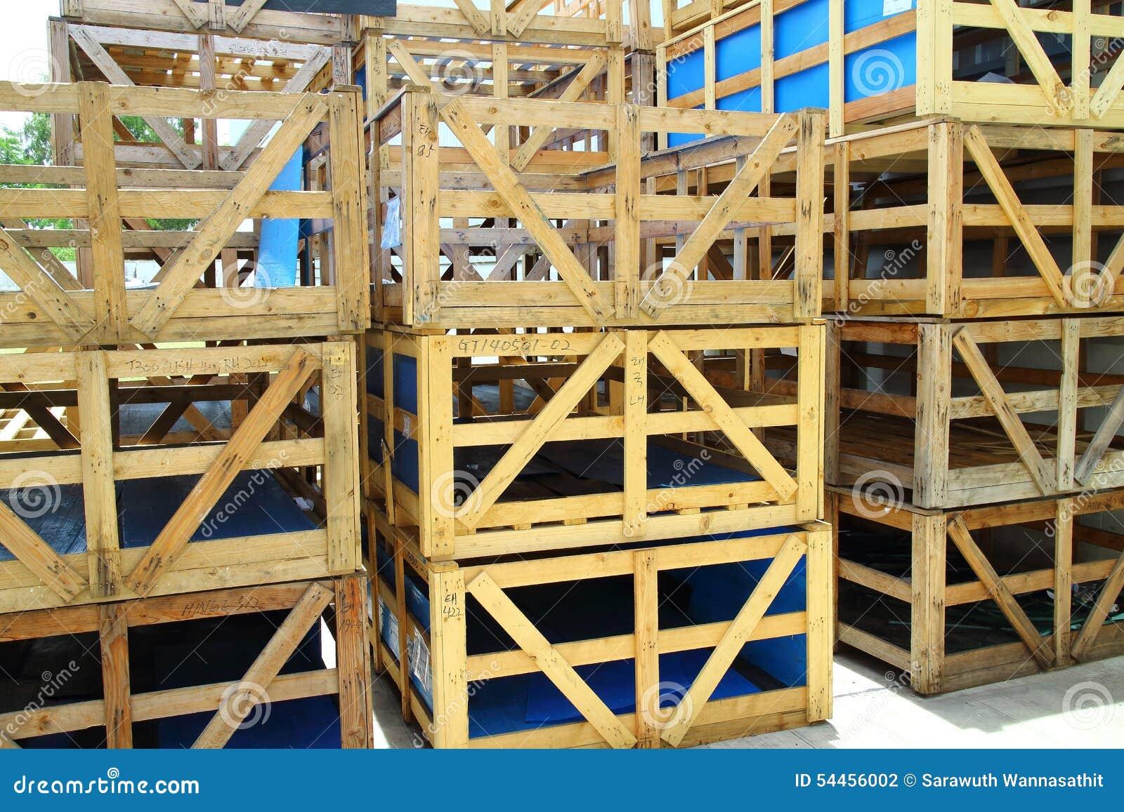 Wood Pallet Box Stock Photo - Image: 54456002