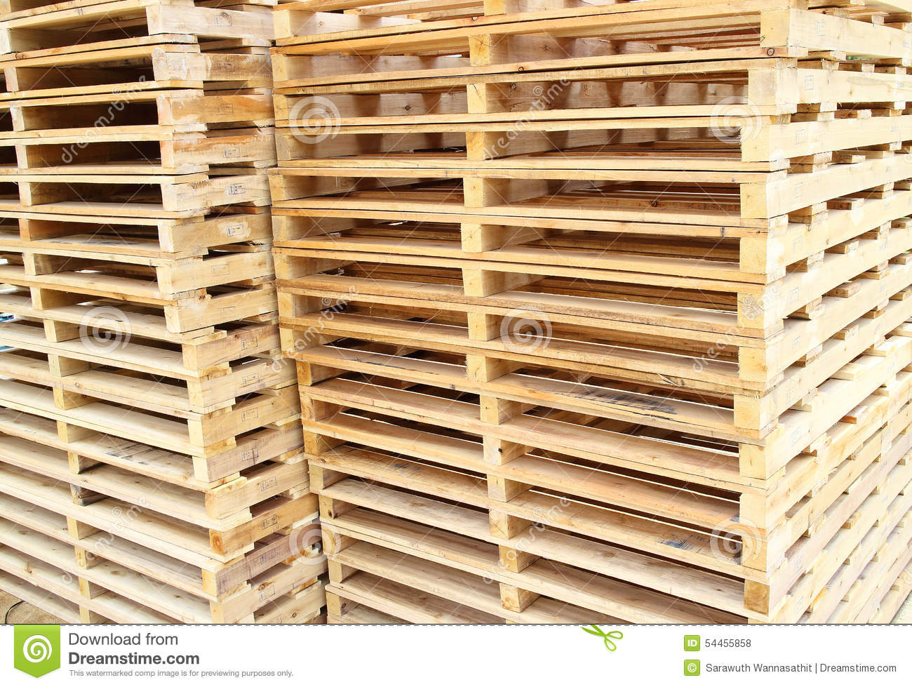 Wood Pallet For Raw Material Stock Photo - Image of ...