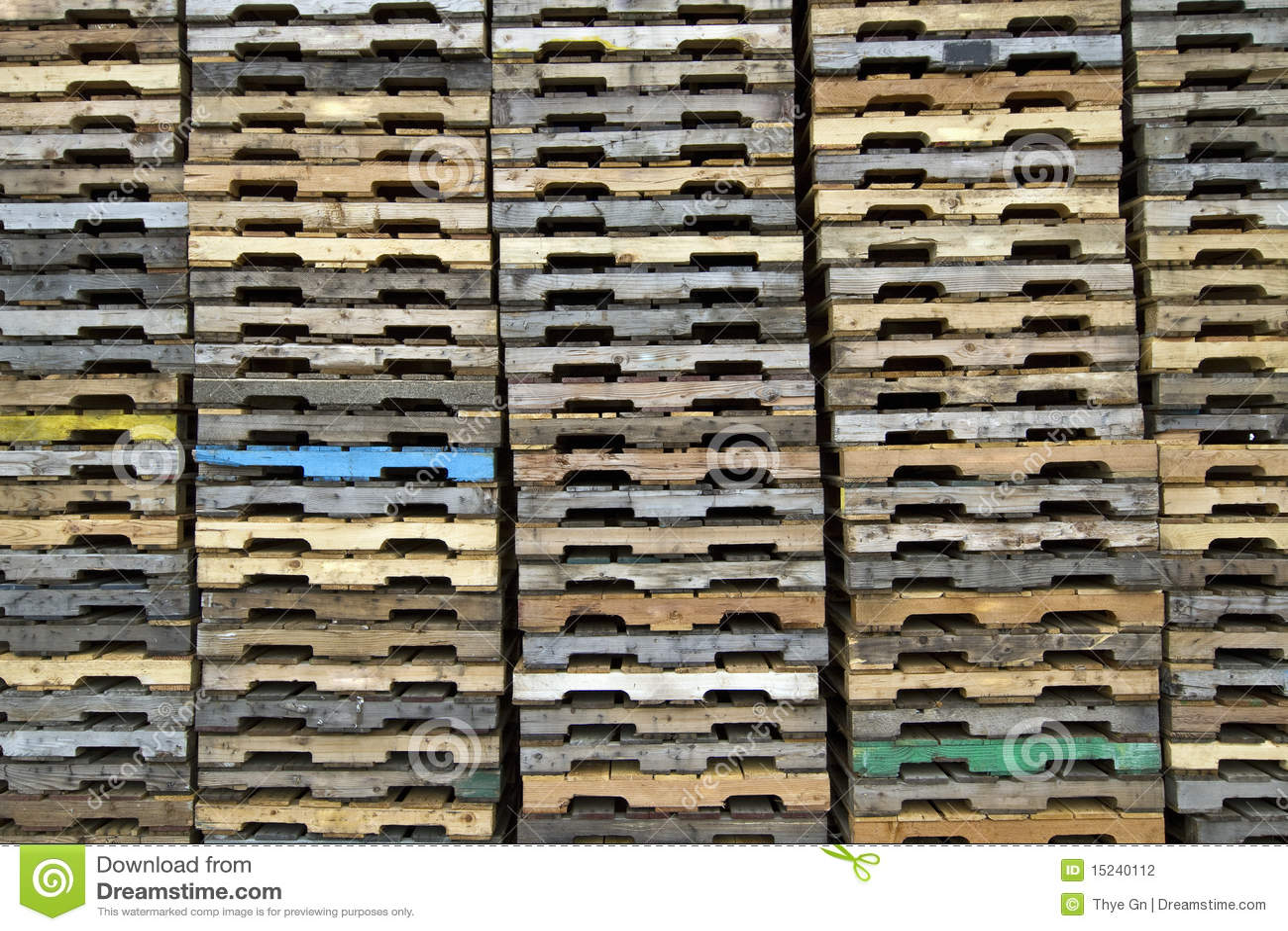 Wood Pallets Background Stock Photography Image 15240112
