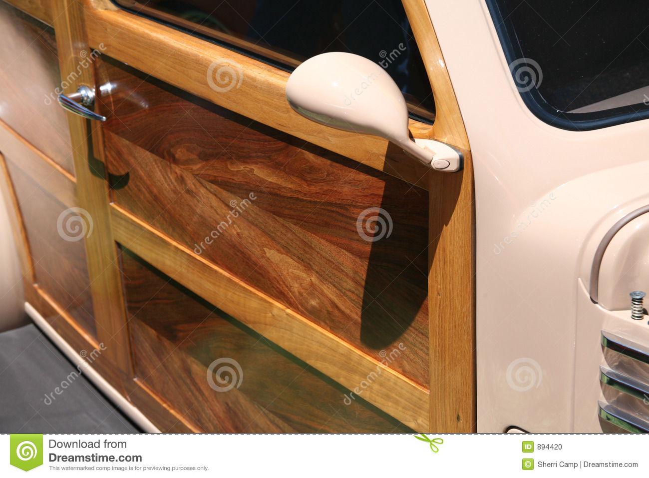 wood panel door on classic sedan car stock photo image 894420. Black Bedroom Furniture Sets. Home Design Ideas