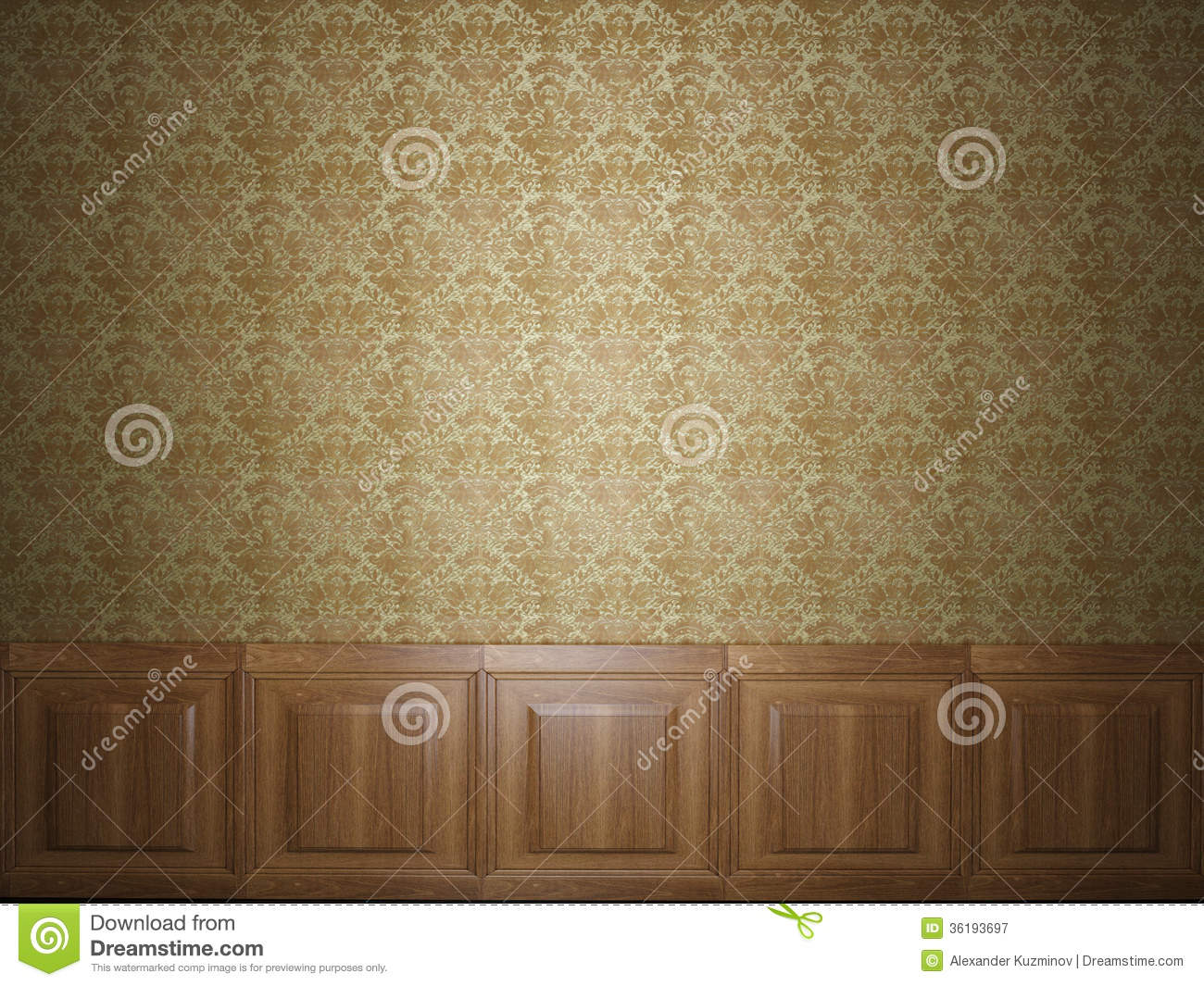 Wood panel wallpaper royalty free stock photography for Panel wallpaper