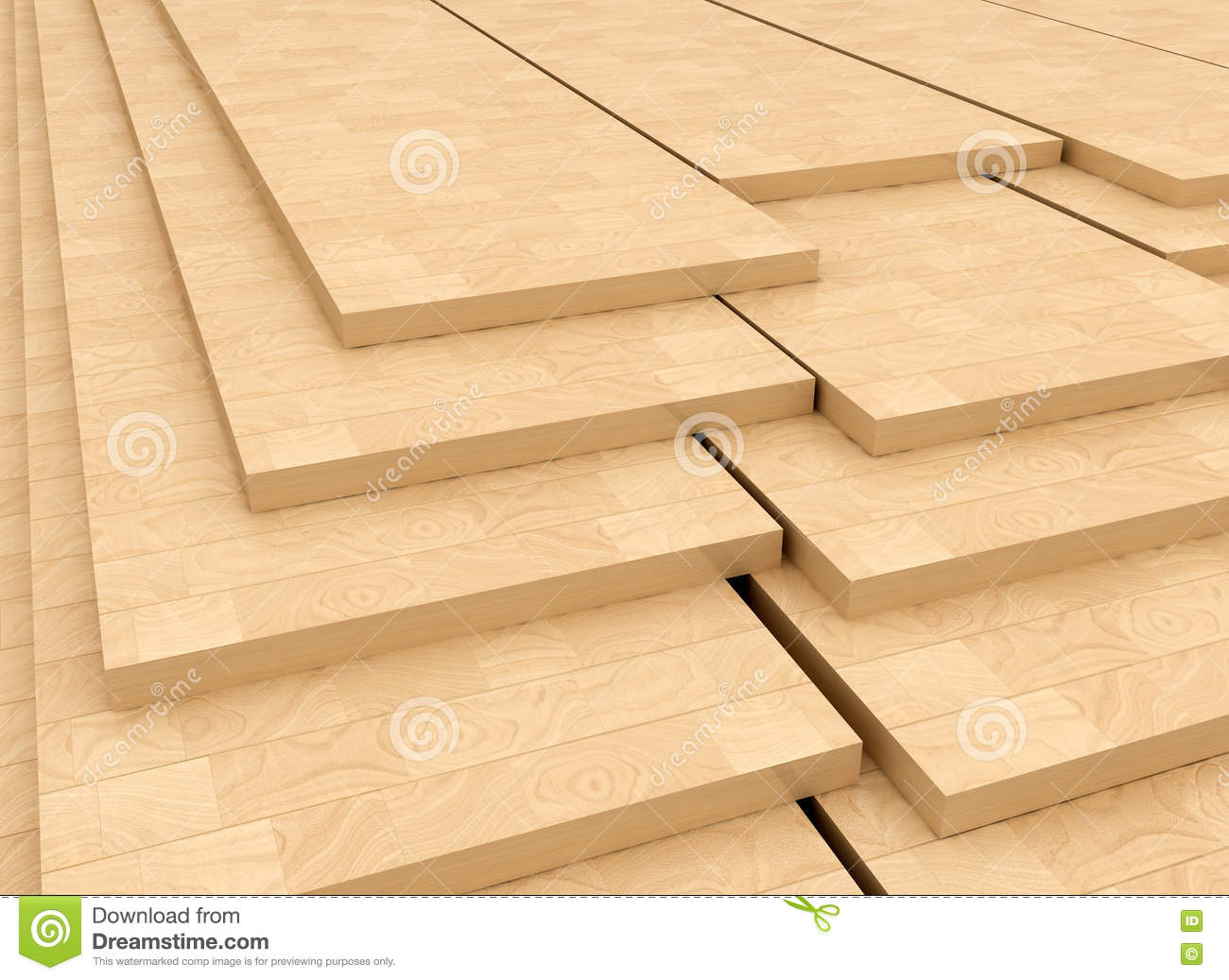 Wood panels stock illustration of material