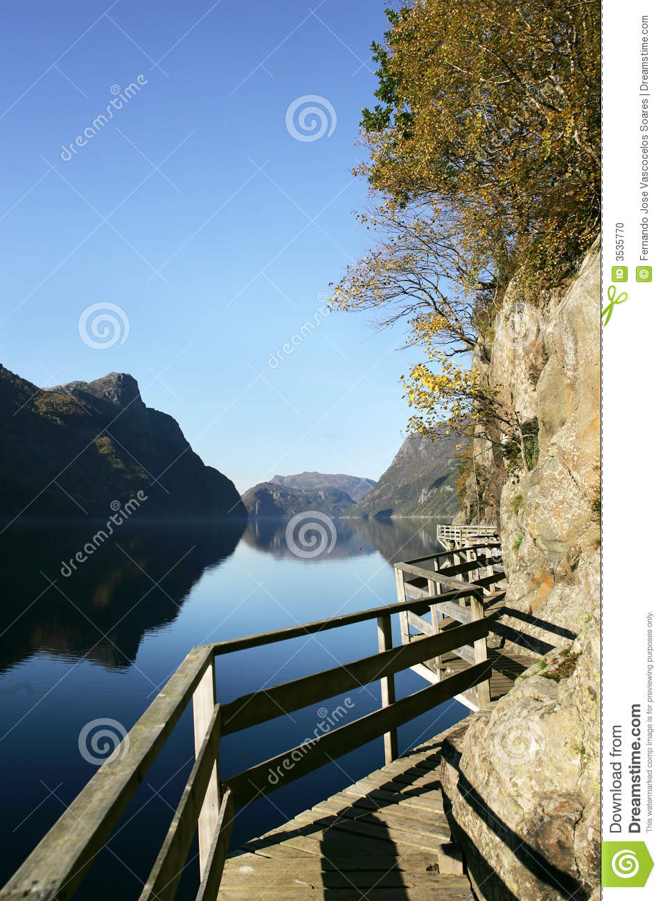 Download Wood path in Frafjord stock photo. Image of stream, holiday - 3535770