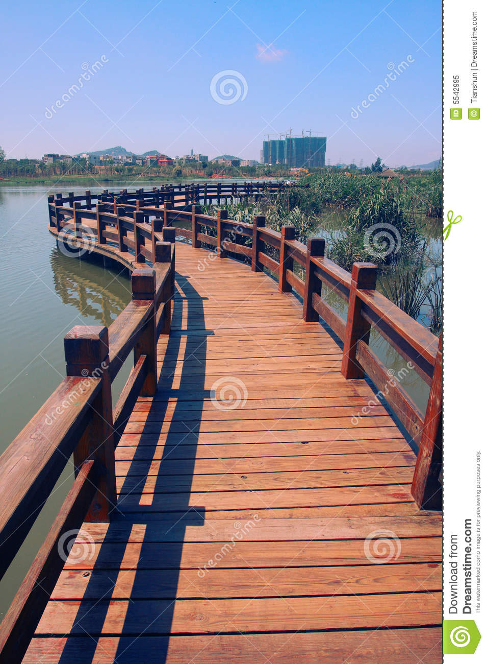 Download Wood path on water stock image. Image of wood, xiamen - 5542995