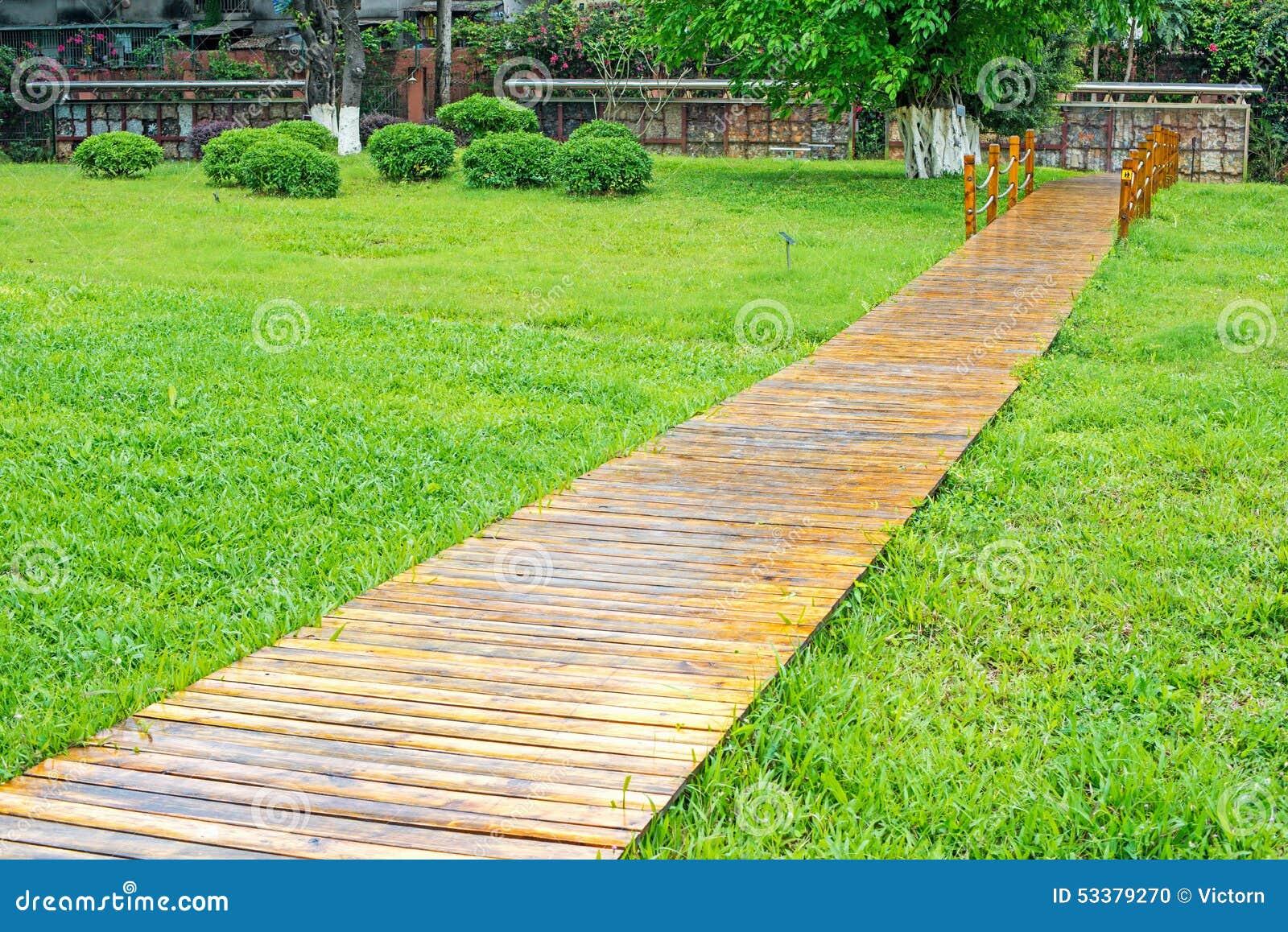 park pathway wood ...