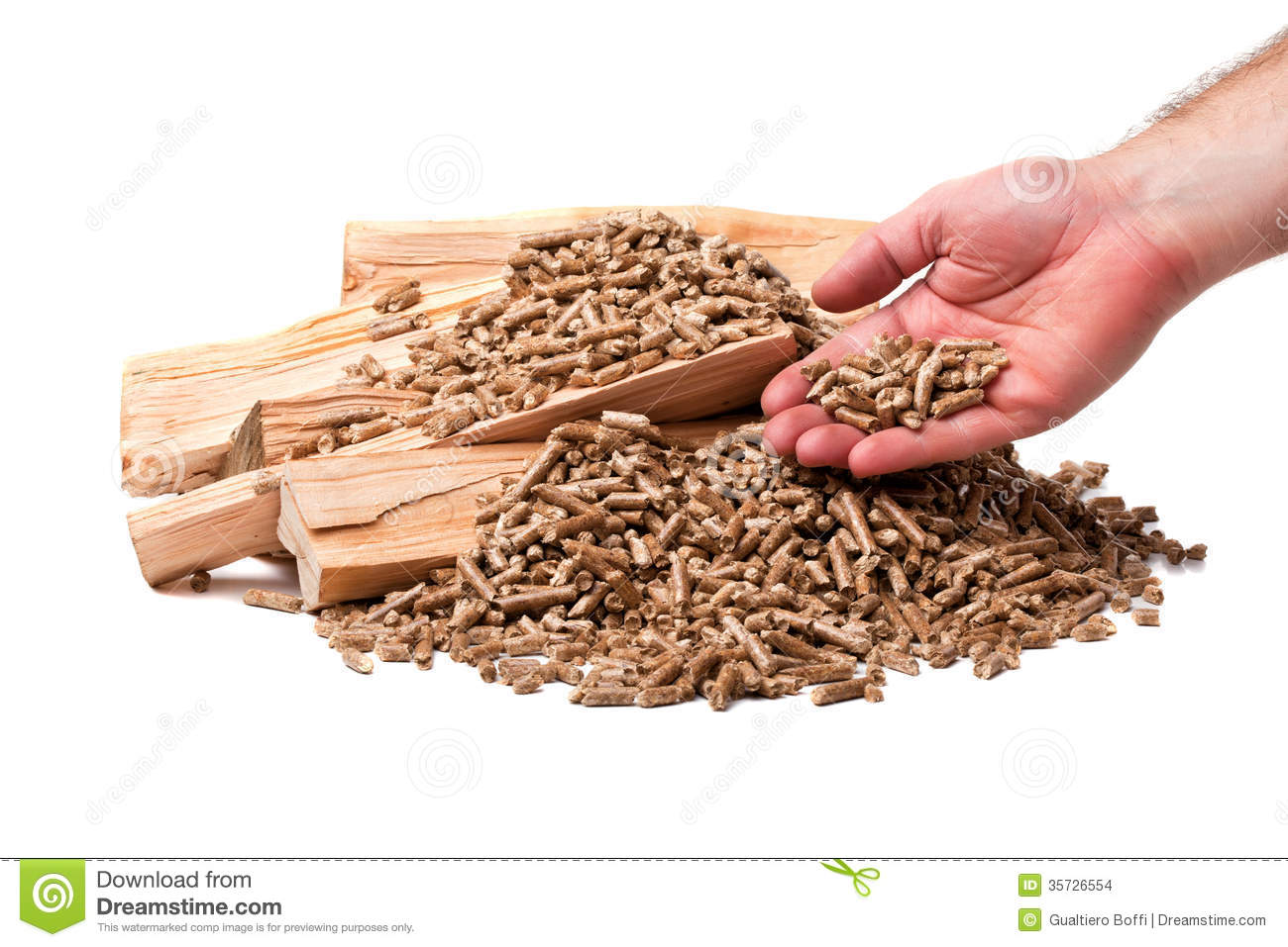 Wood pellet stock images image