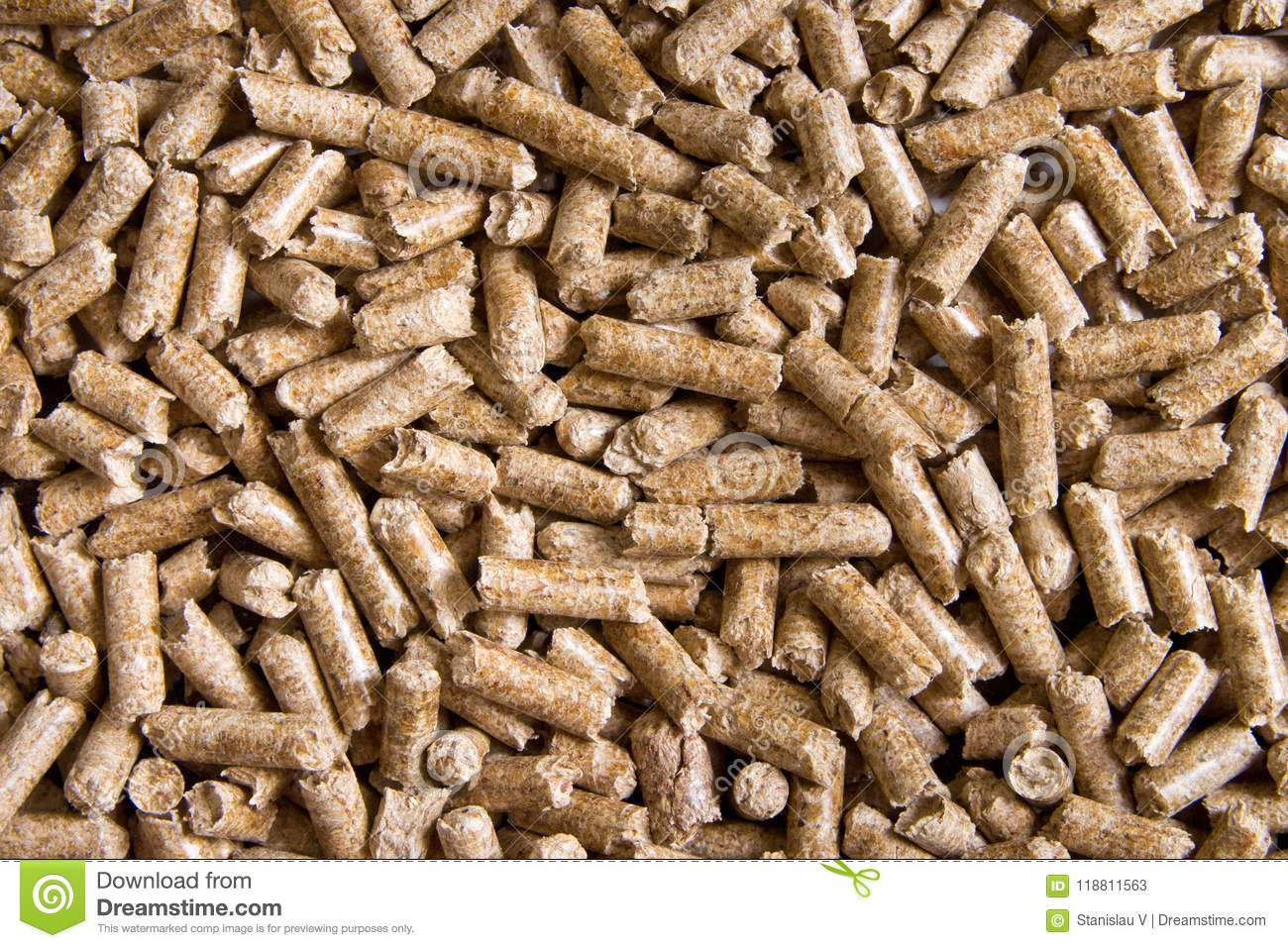 Wood pellets close up .Biofuels. Biomass Pellets - cheap energy.
