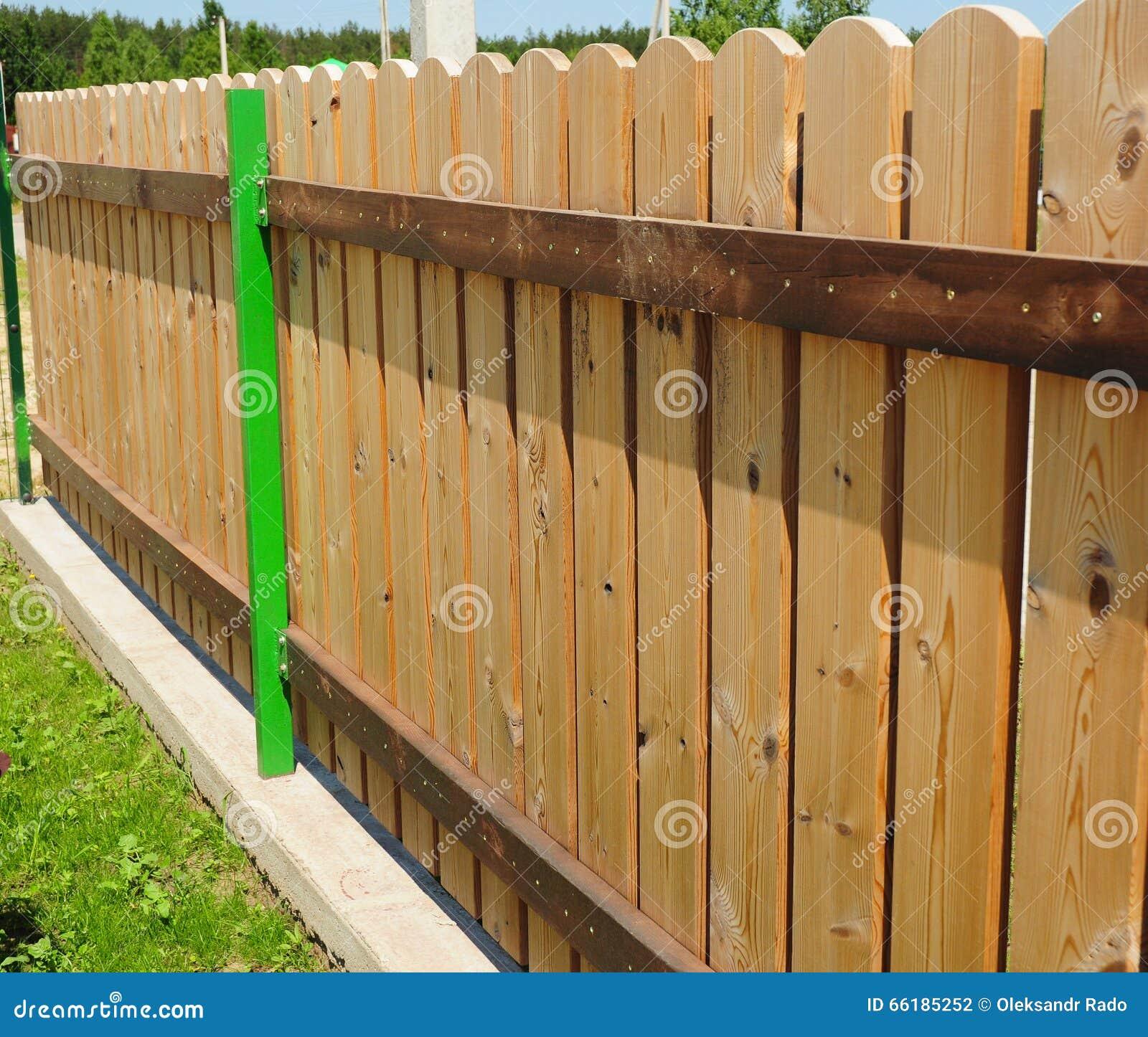 Wood Picket Fence Details Stock Photo Image Of Gardening