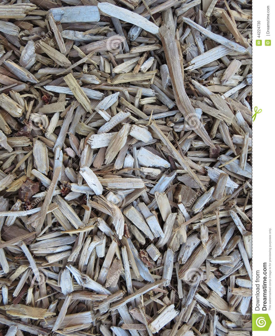 wood pieces used for garden mulch stock photo image 44224730. Black Bedroom Furniture Sets. Home Design Ideas