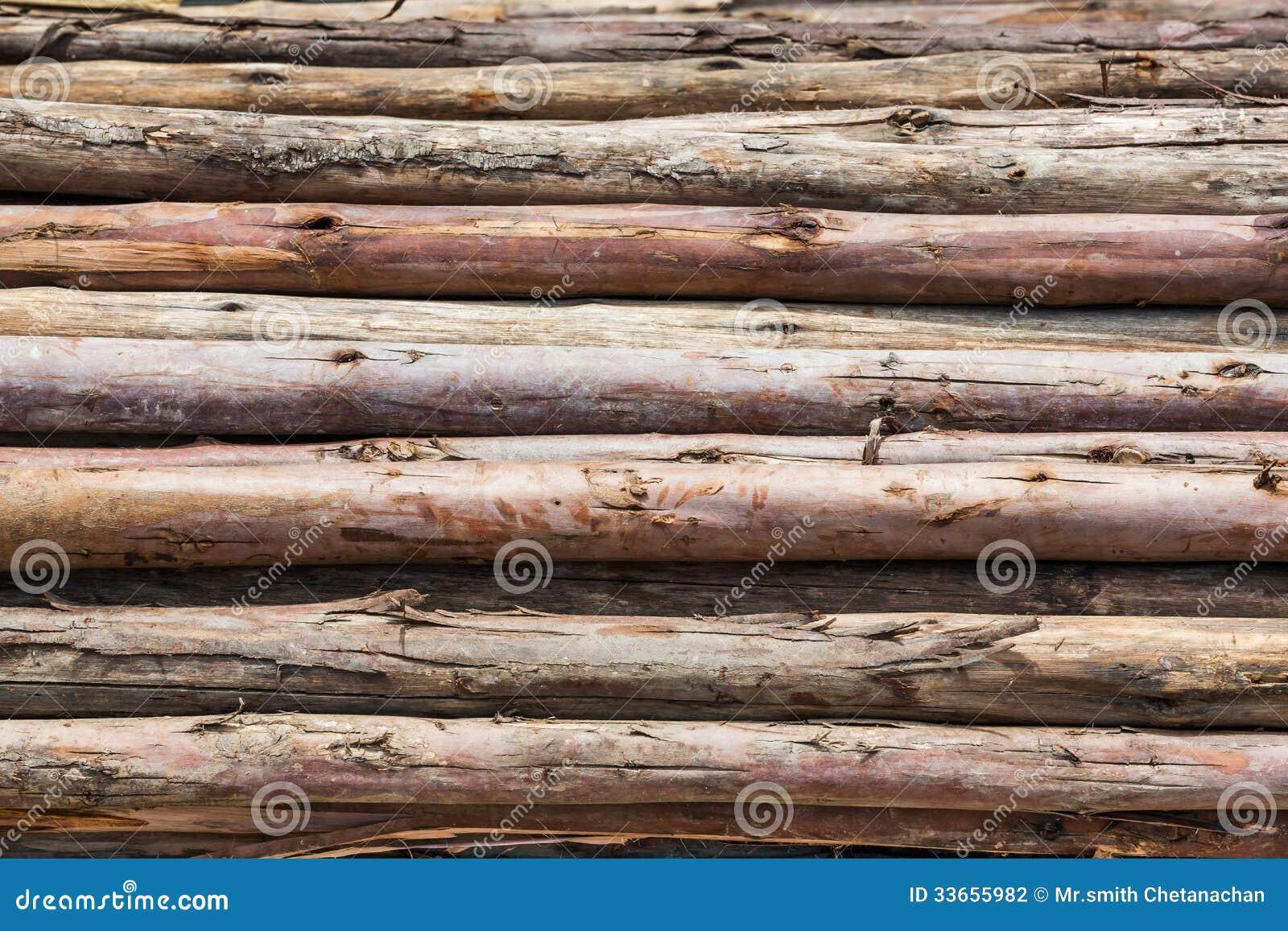 Wood Piling Construction : Wood pile stock photography image