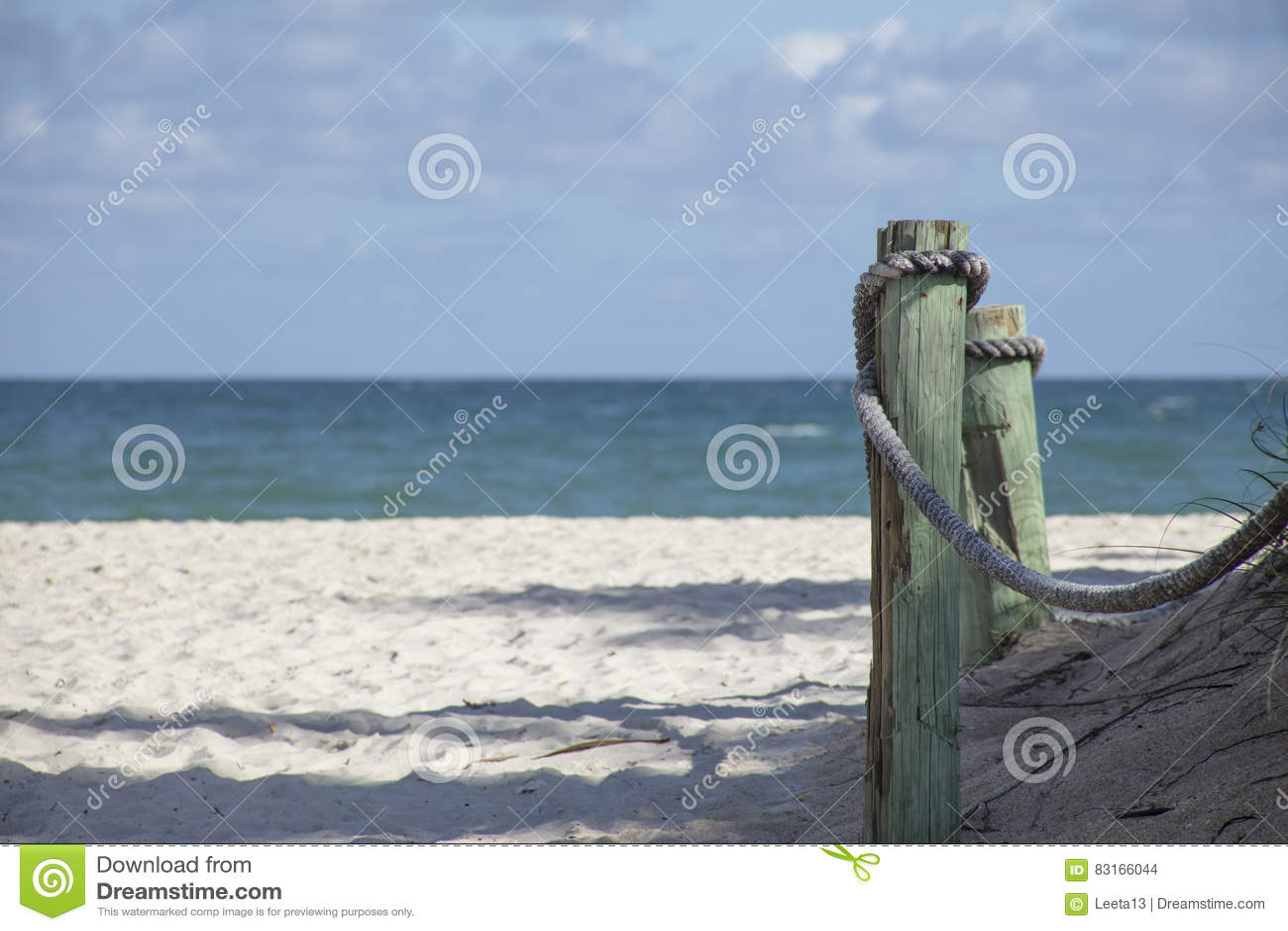 Wood Piling on Beach