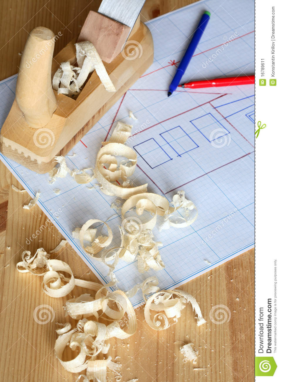 Wood Planer And Graph Paper