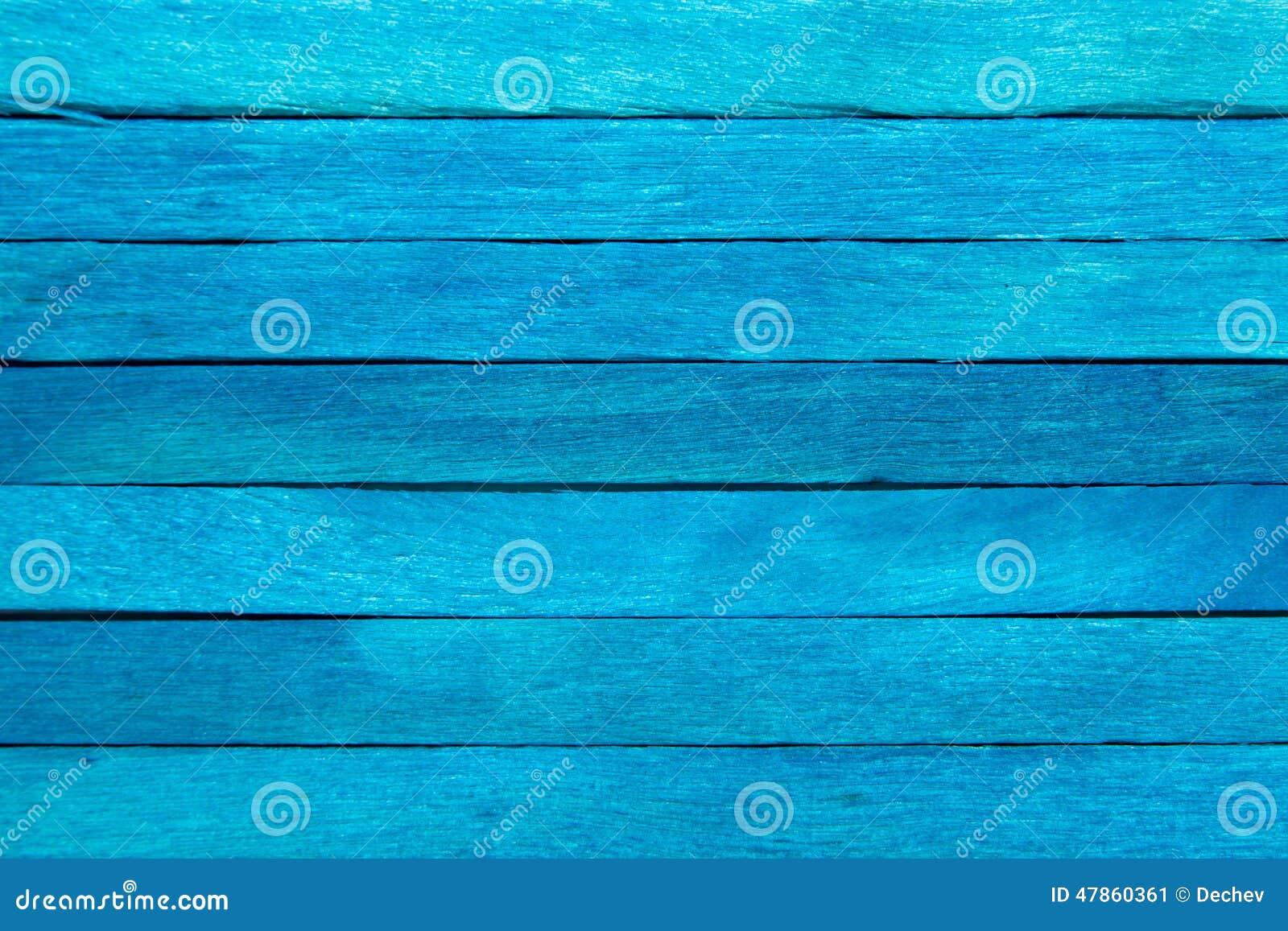 Wood plank blue background