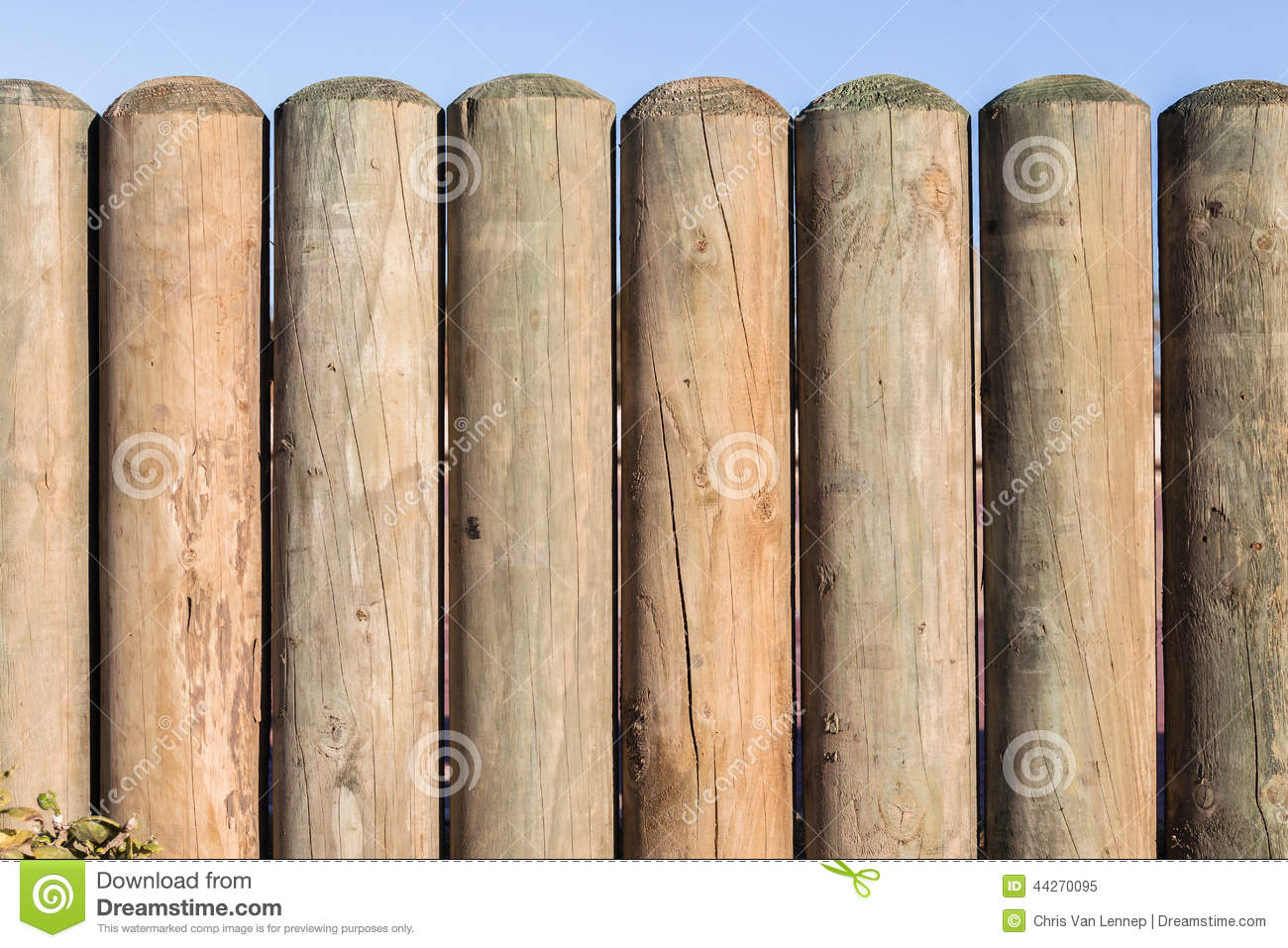 Wood pole fence section stock photo image 44270095 royalty free stock photo baanklon Image collections