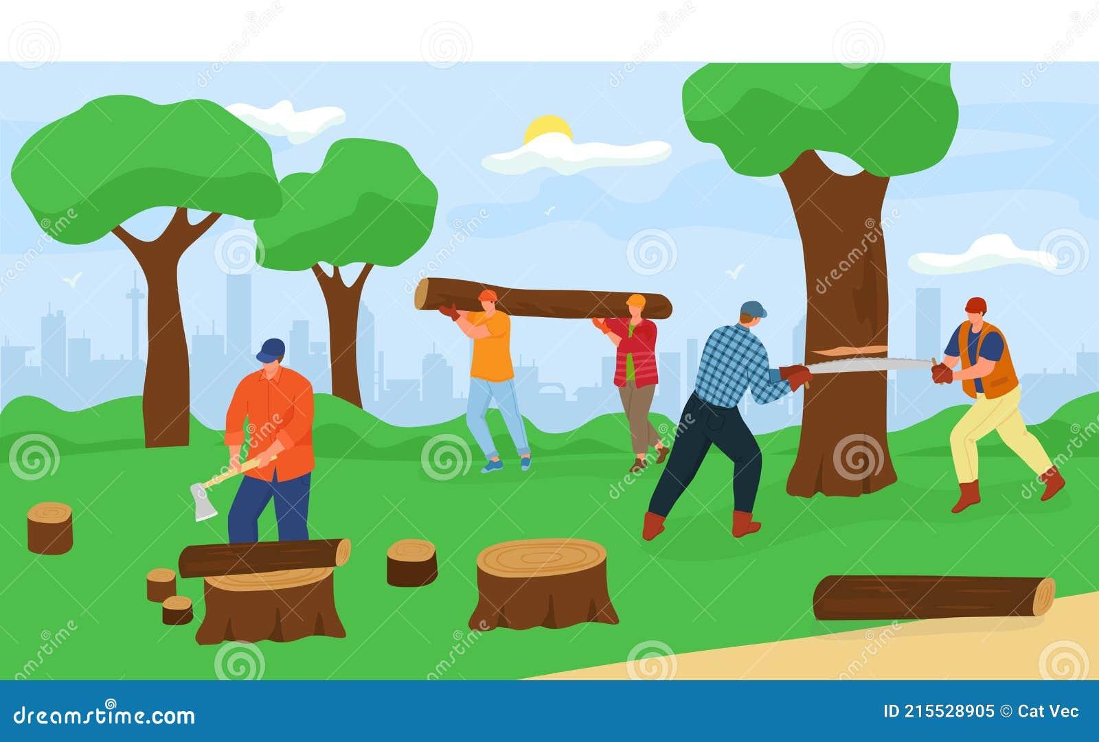 Man Cutting Tree Stock Illustrations 662 Man Cutting Tree Stock Illustrations Vectors Clipart Dreamstime