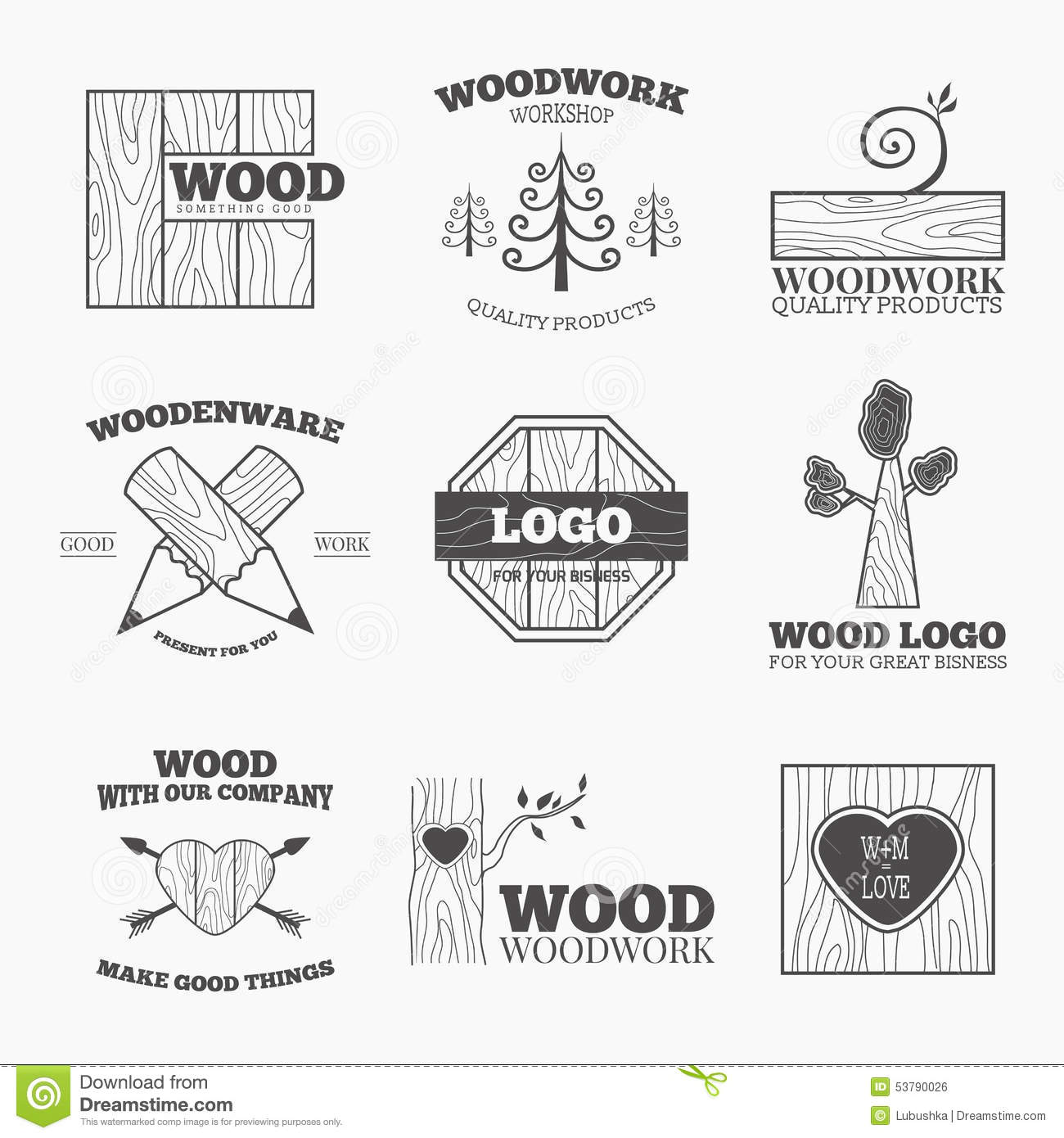 Wood products logo vector stock vector. Illustration of ...
