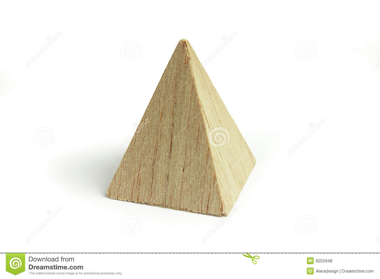 Wood Pyramid Block Royalty Free Stock Photos - Image: 8255948