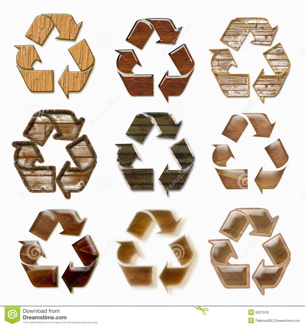 Wood Recycle Symbol Stock Illustration Illustration Of