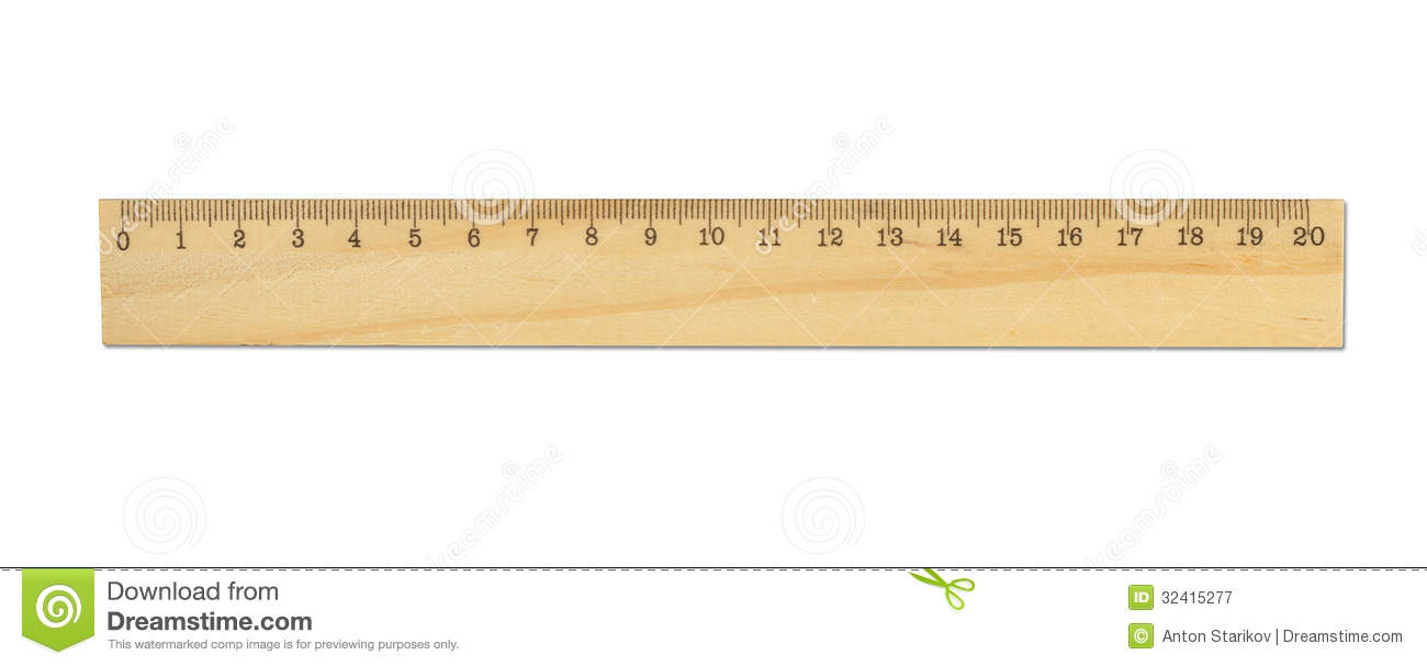 Wood Ruler Stock Image Image Of Inch Edge Length