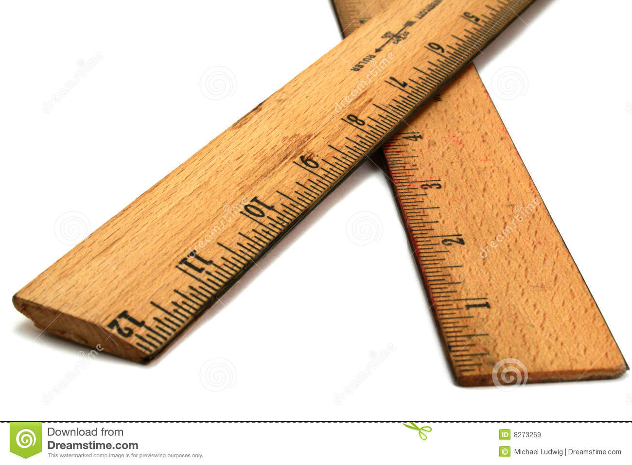 Wood Rulers Royalty Free Stock Images - Image: 8273269
