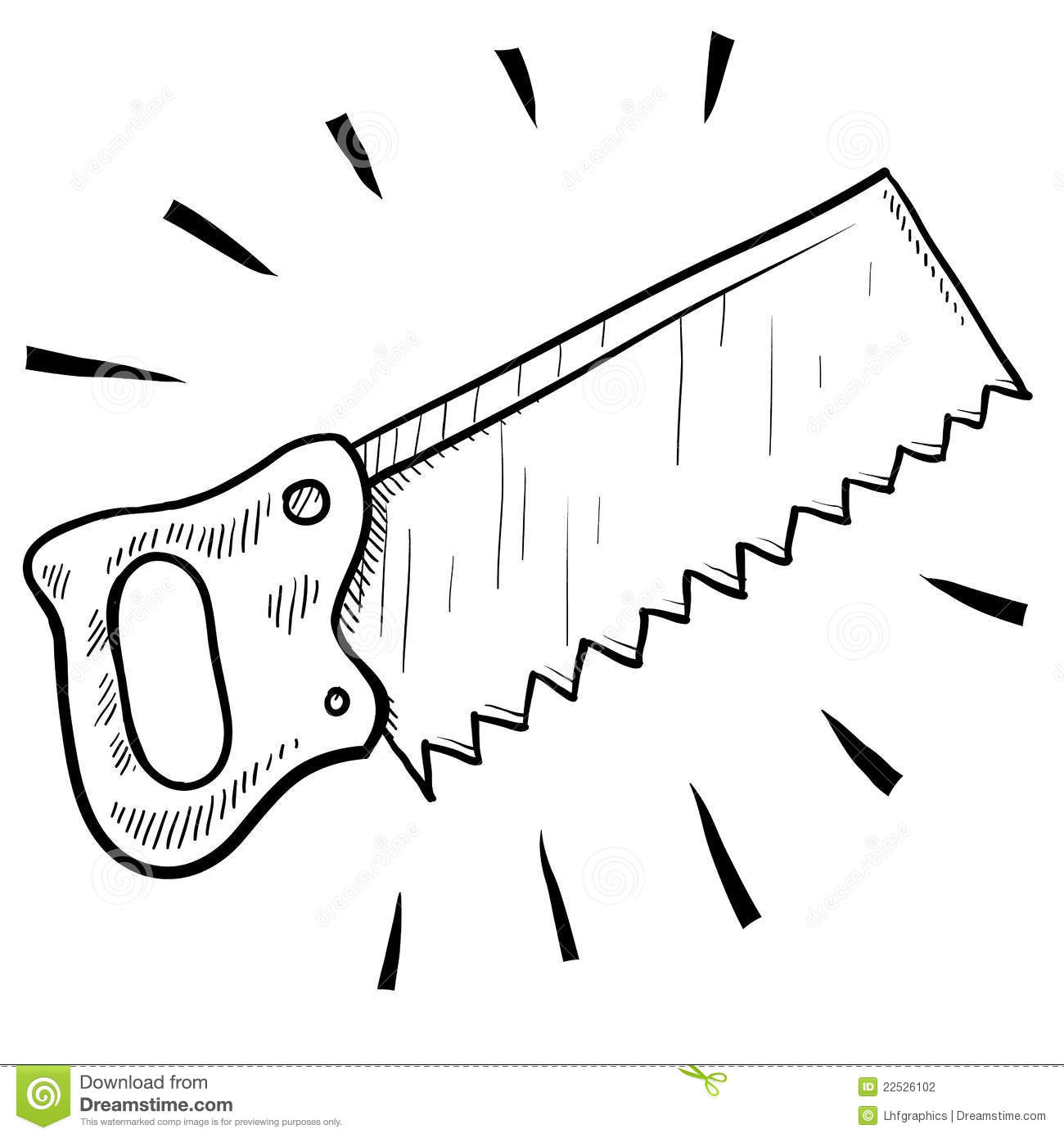 Wood Saw Sketch Stock Vector Image Of Home Blade Jigsaw