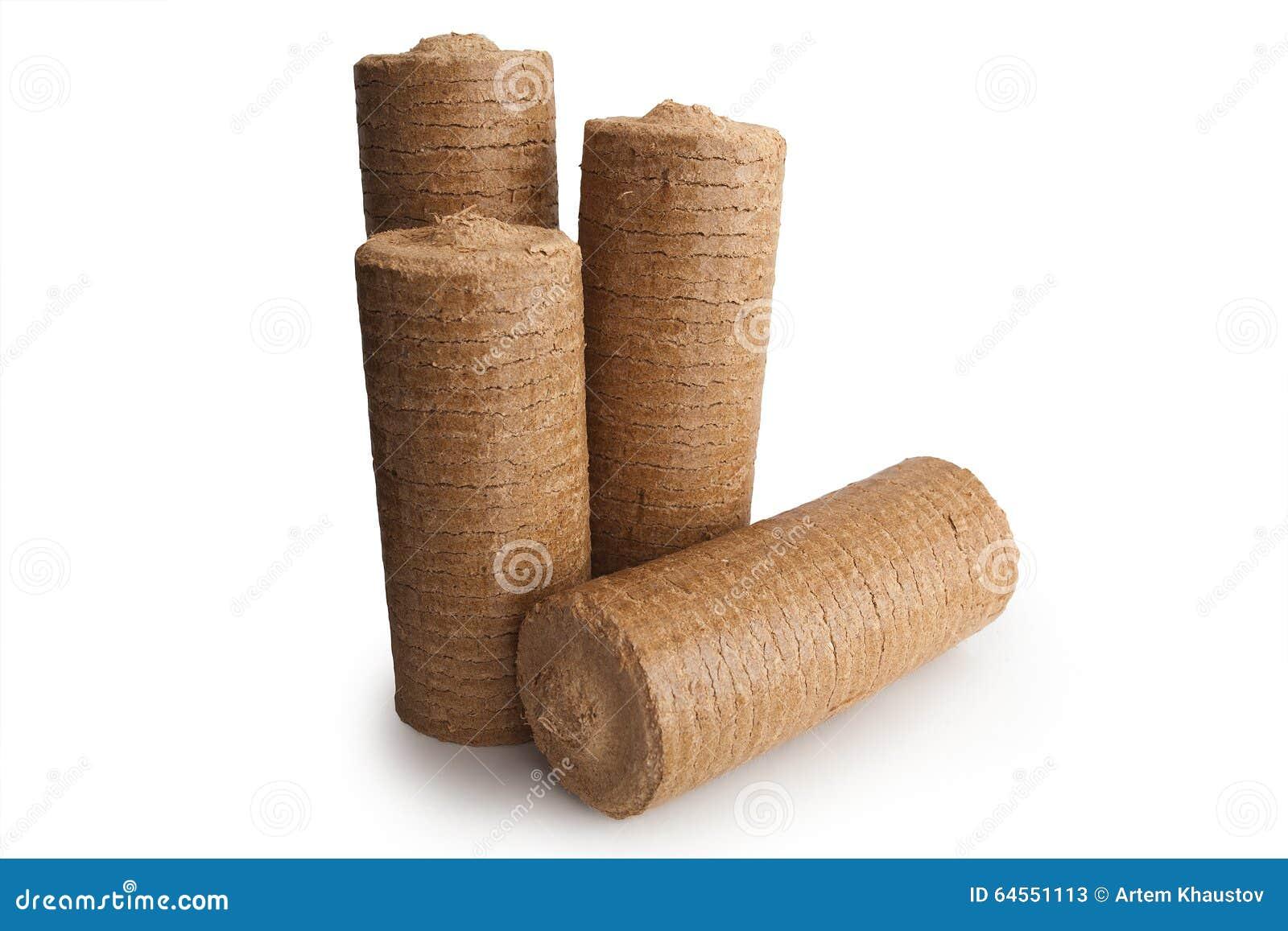 Wood Sawdust Briquettes ~ Wood sawdust energy briquettes stock image of