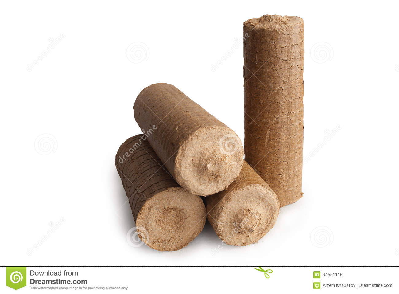 Wood Sawdust Briquettes ~ Wood sawdust energy briquettes stock photo image