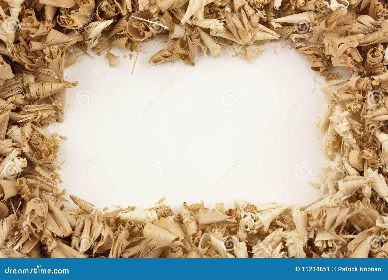 Wood Shavings Frame stock image  Image of white, pine - 11234851