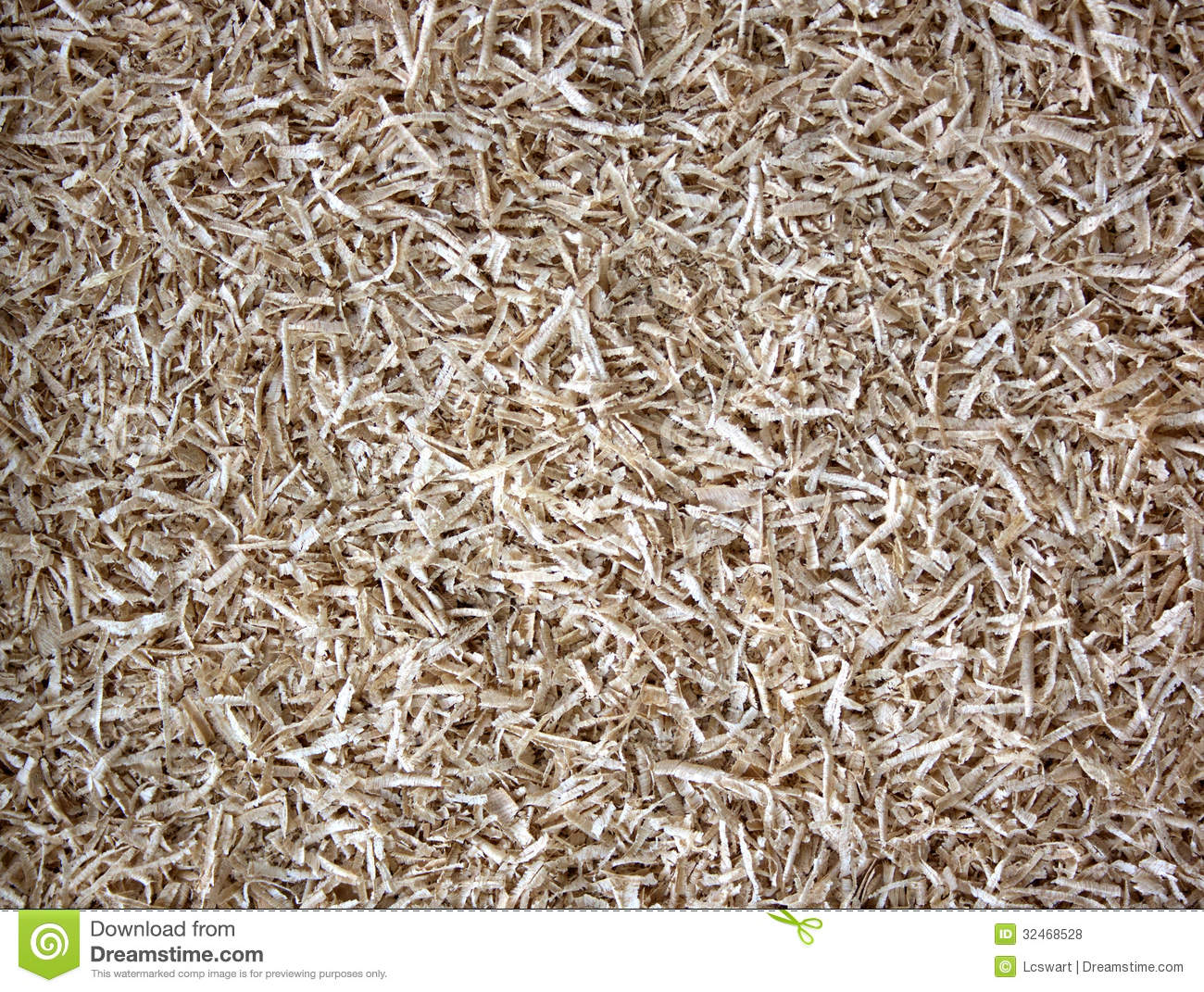 Wood shavings and sawdust texture stock photo image