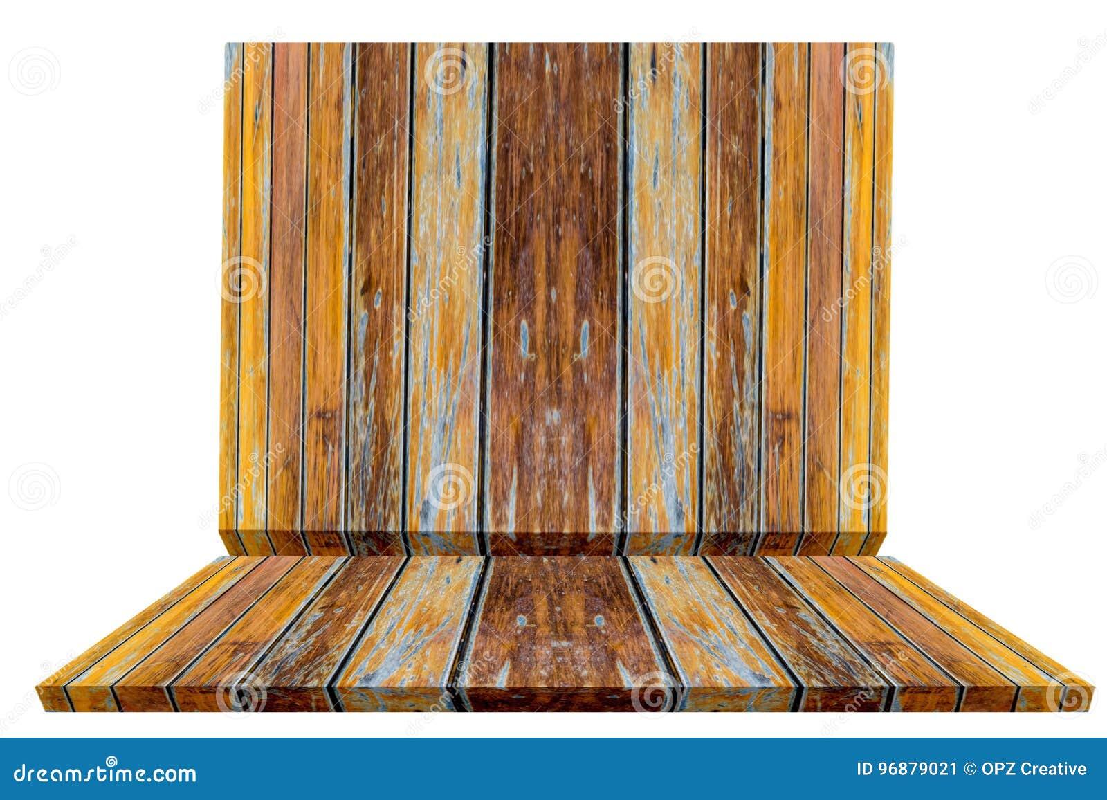 Wood Shelf On White Background Using Wallpaper Or Background