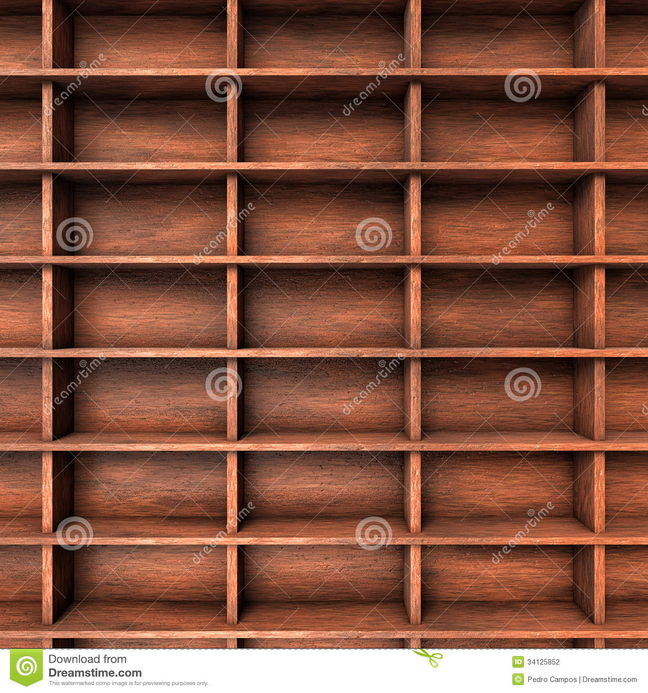 Wood Shelves Slots Stock Photography - Image: 34125852