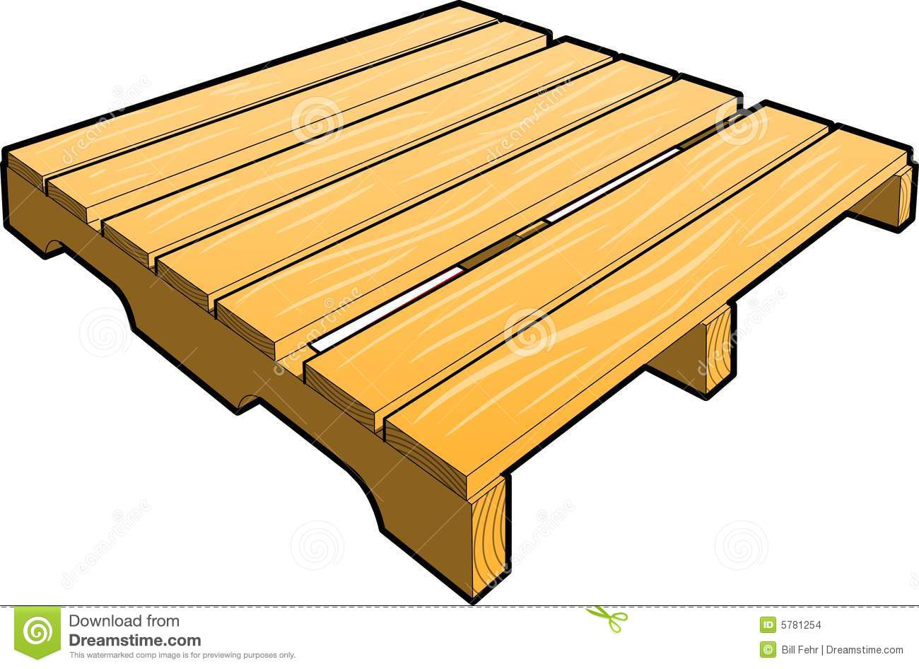 Wood Shipping Pallet Stock Images