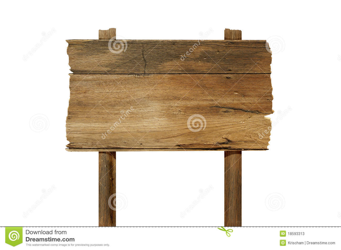 Wood sign board stock image of antique