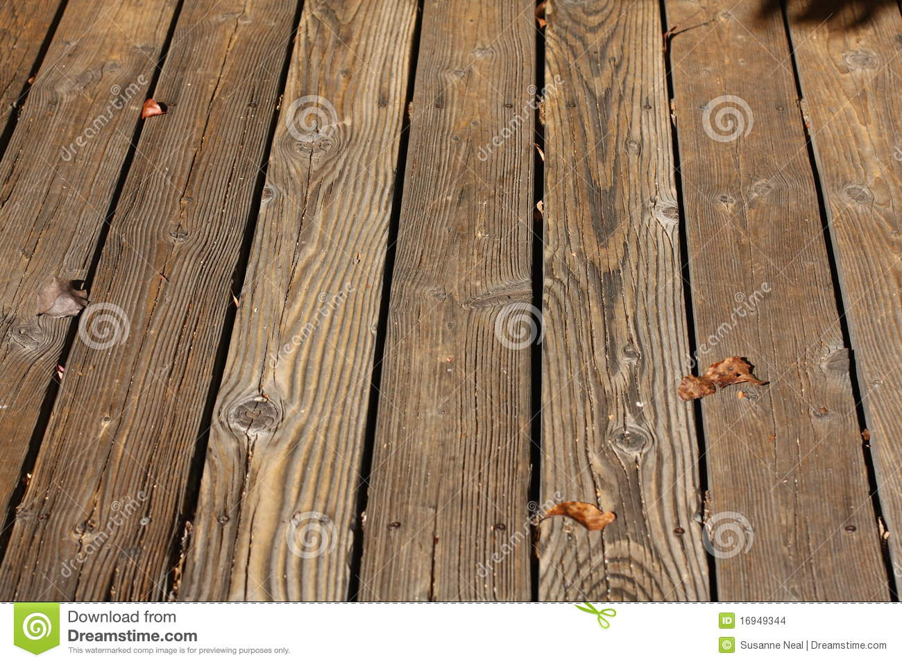 Wood Slats Of An Outdoor Deck Stock Photo Image 16949344
