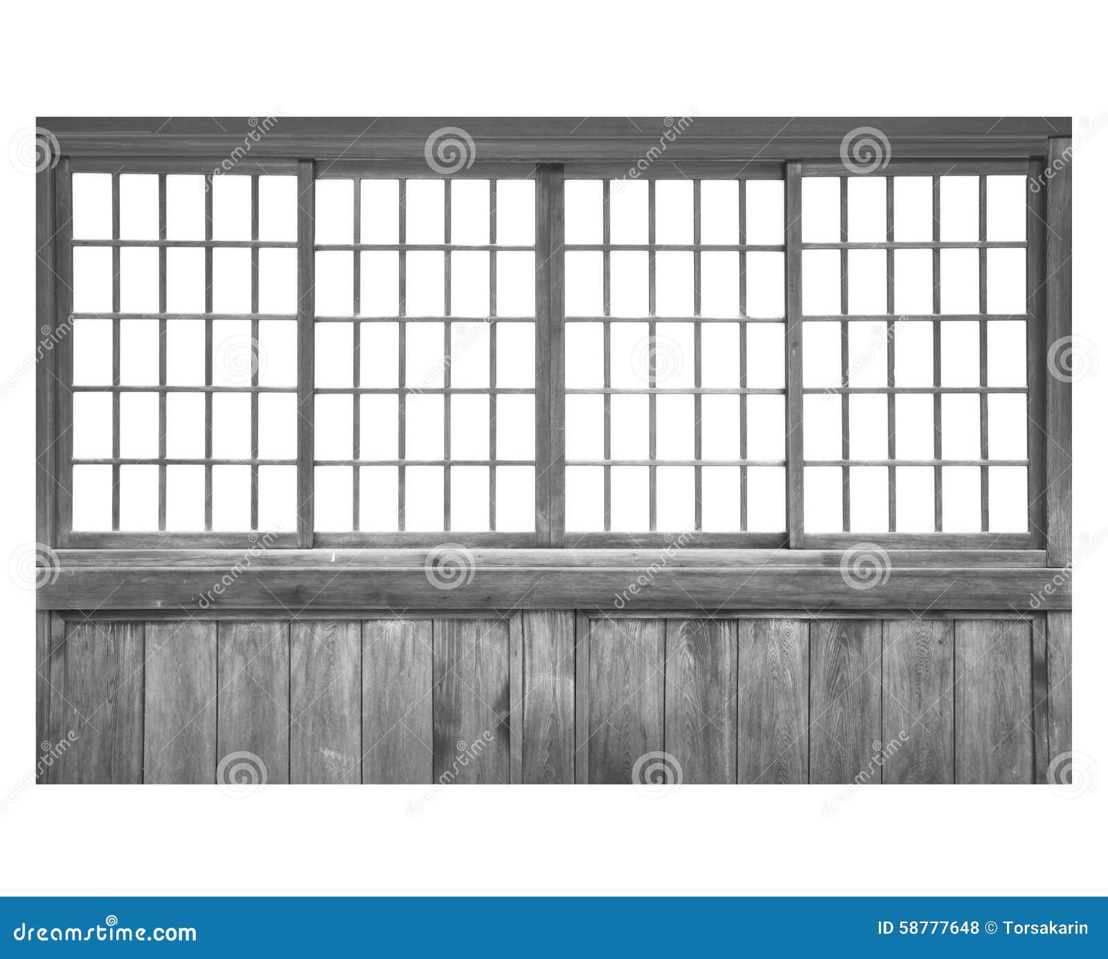 Wood sliding door stock photo image