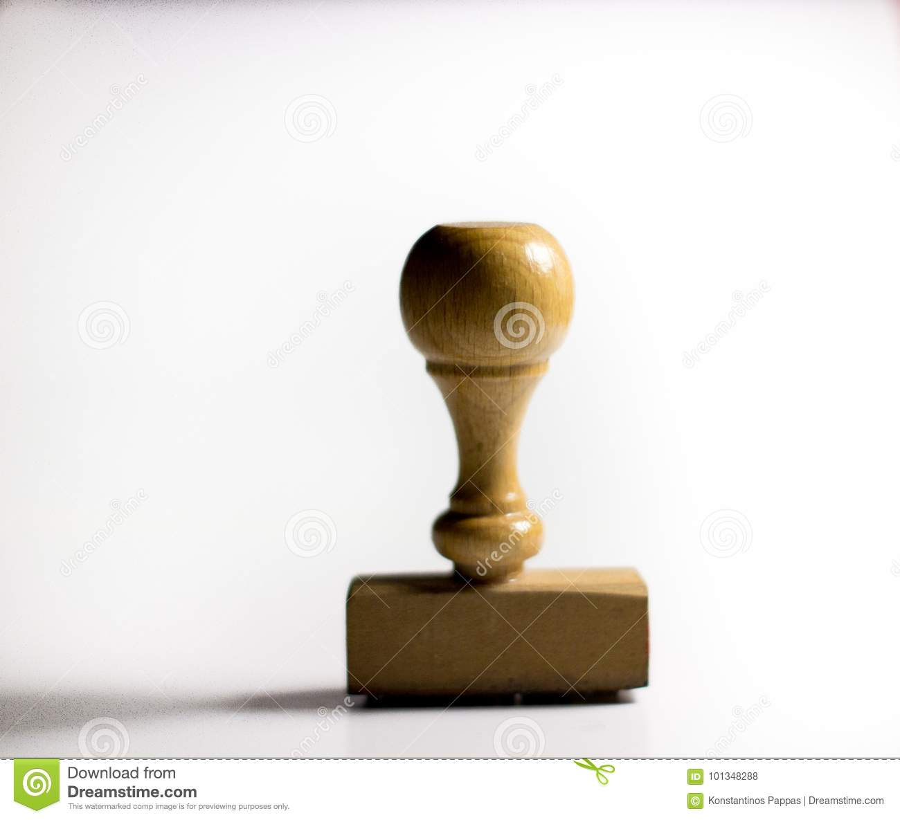 wood stamper on a white background