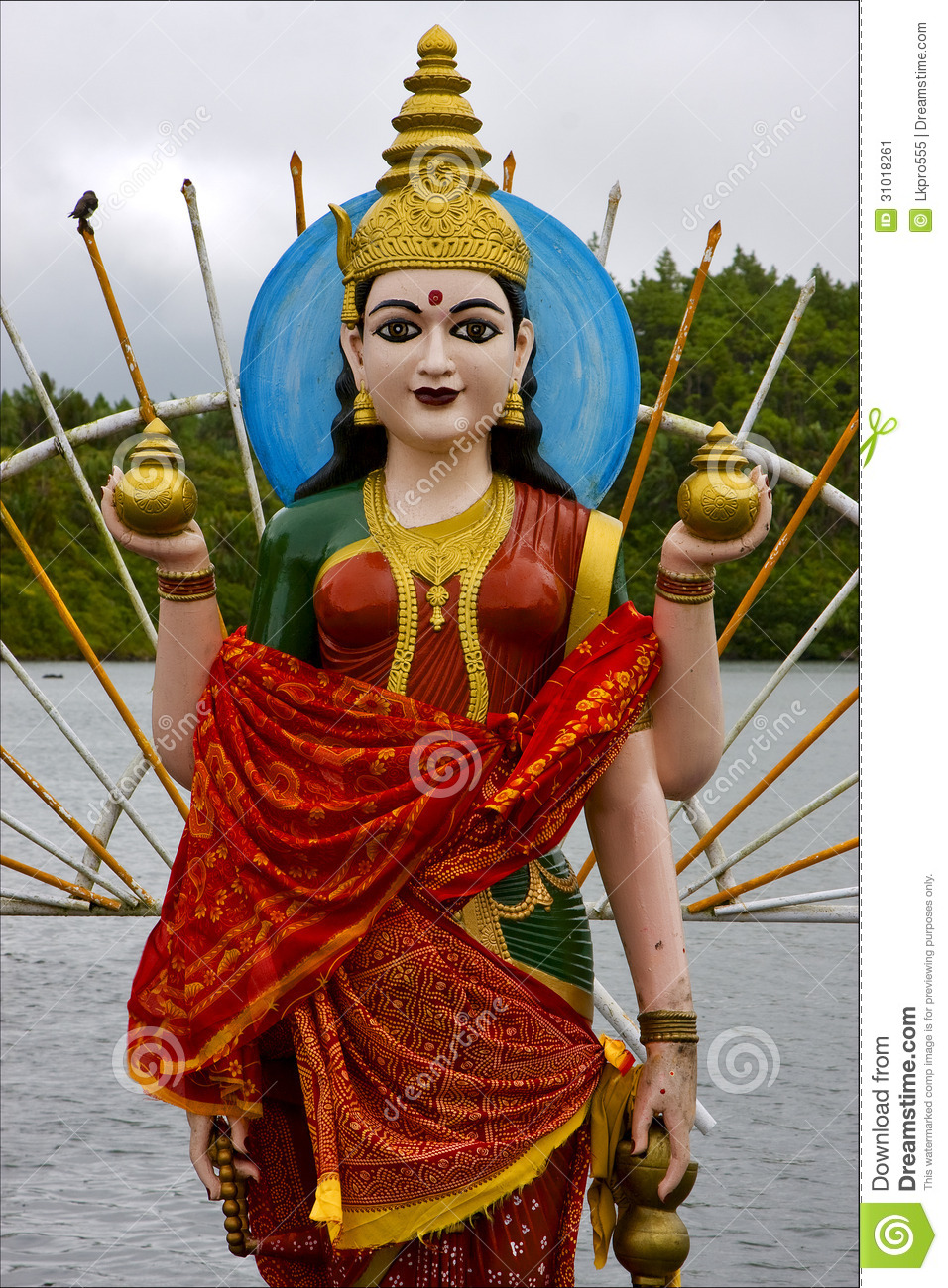Wood Statue Of A Hinduism Women Stock Image Image 31018261