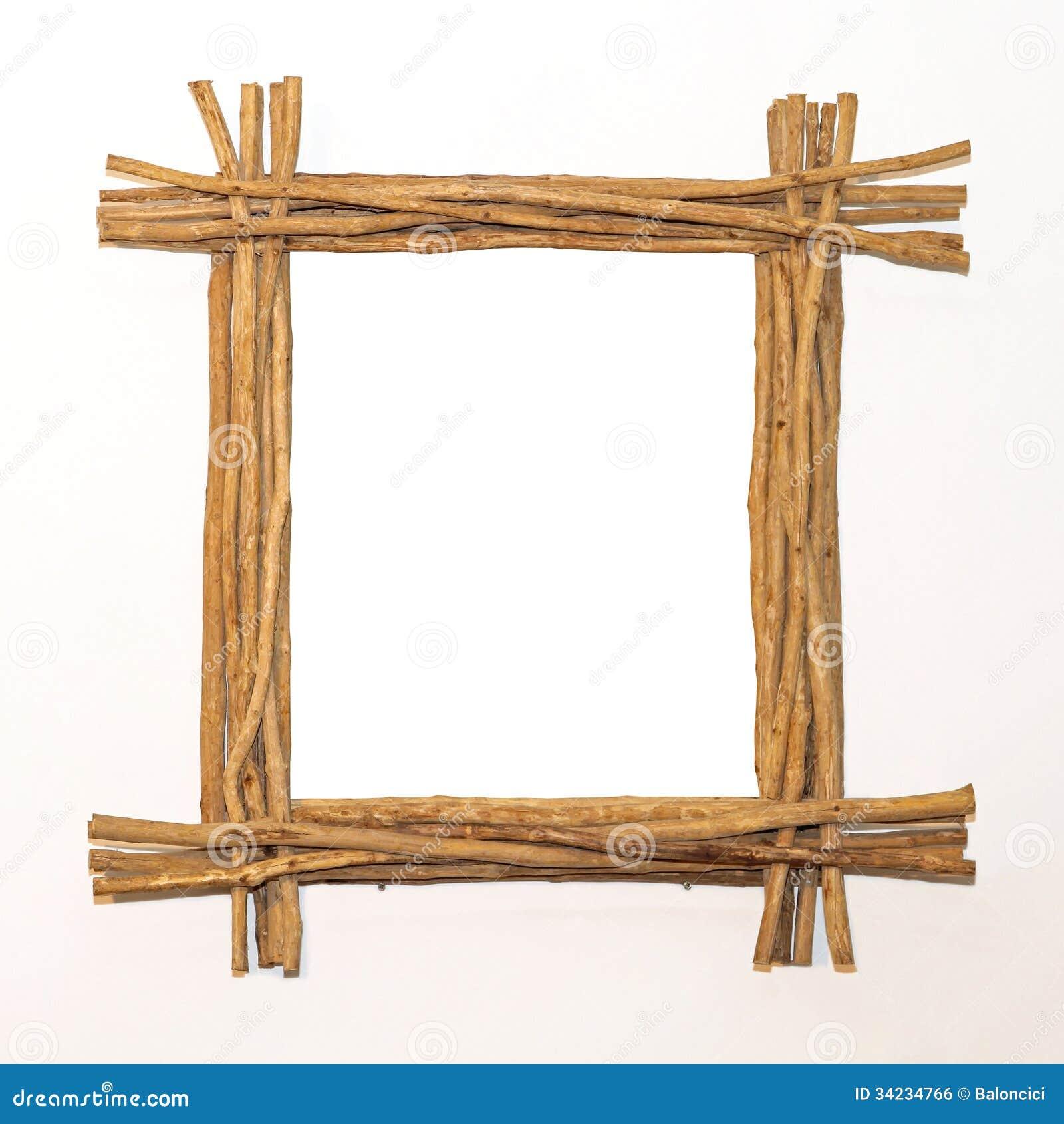 Wood sticks frame