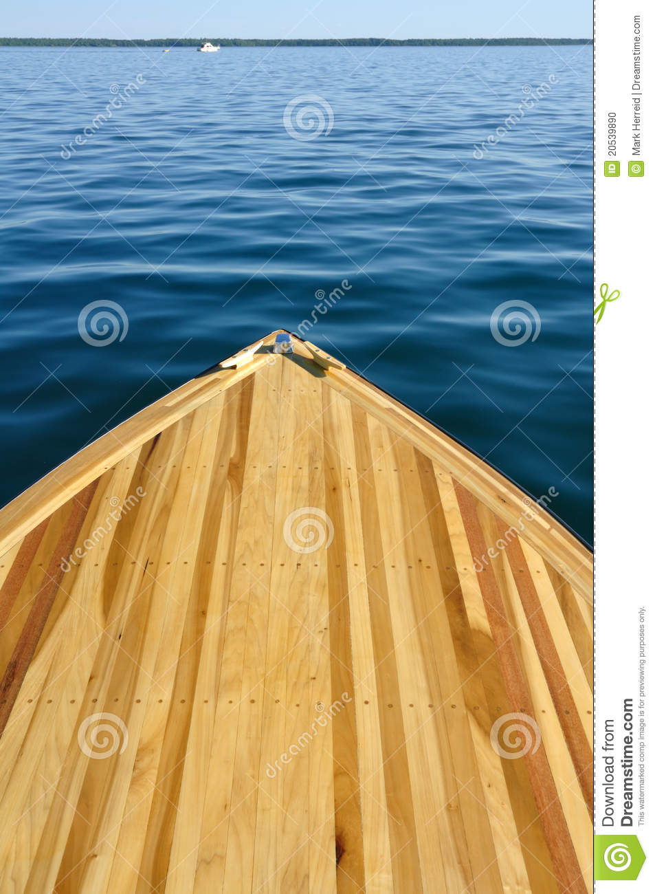 Wood Strip Bow Deck Of Wooden Boat Stock Photo - Image of ...