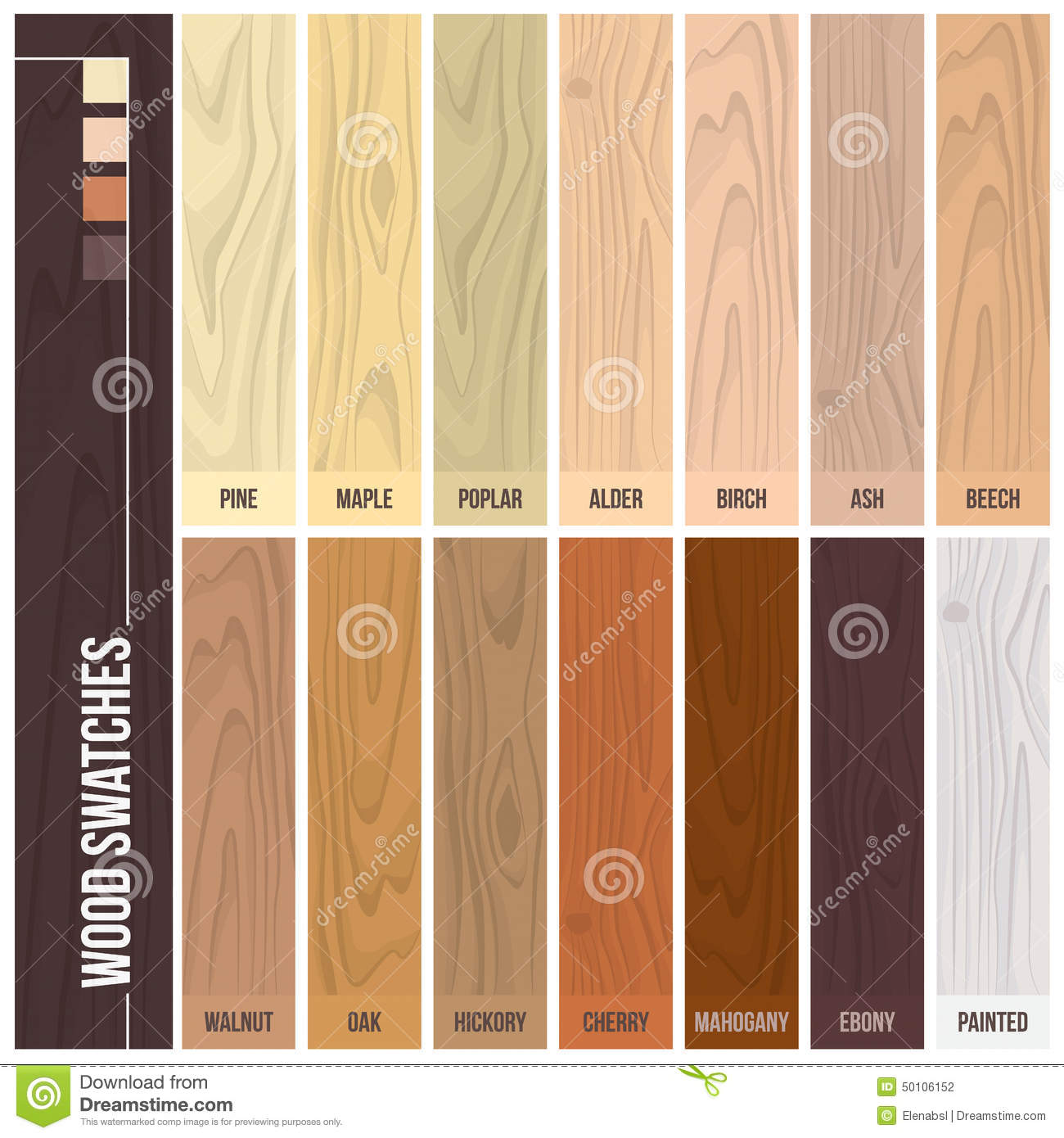 Wood Swatches Stock Vector Image Of Lumber Name Elegant