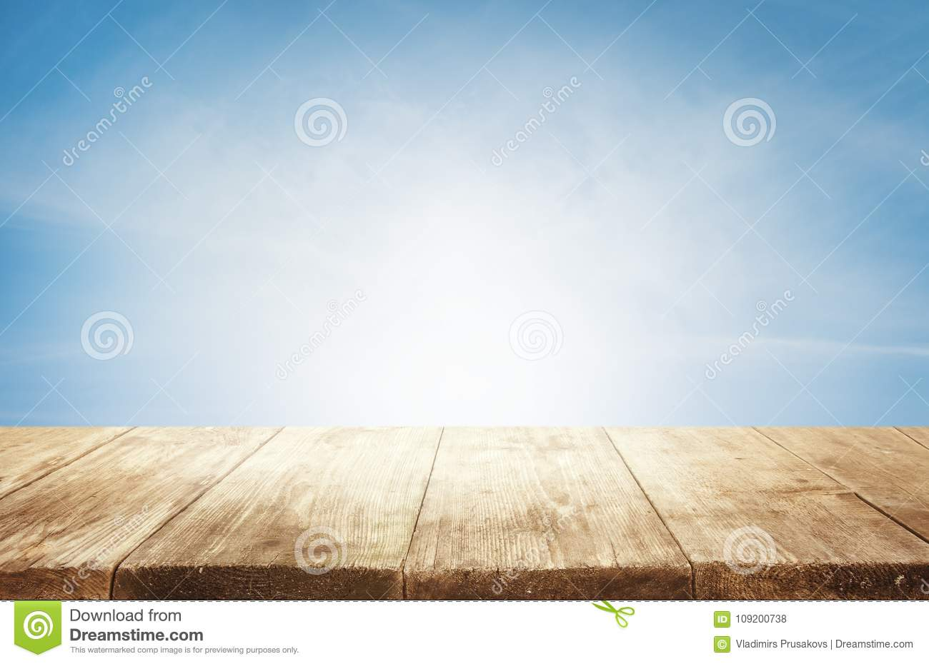 Table Top Background Intended Wood Table Top Background Empty Wooden Desk Over Blue Sky Over Stock